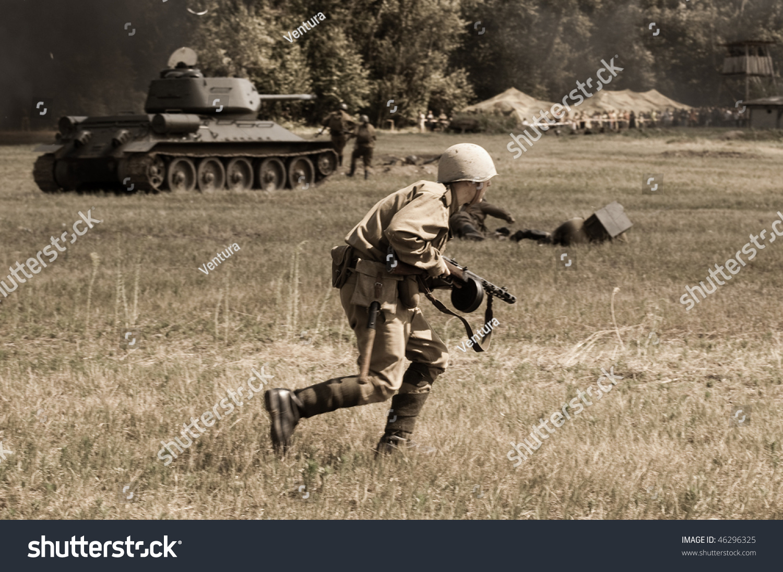 Tekov Slovakia July 7 Soviet Soldiers Stock Photo (Edit Now) 46296325