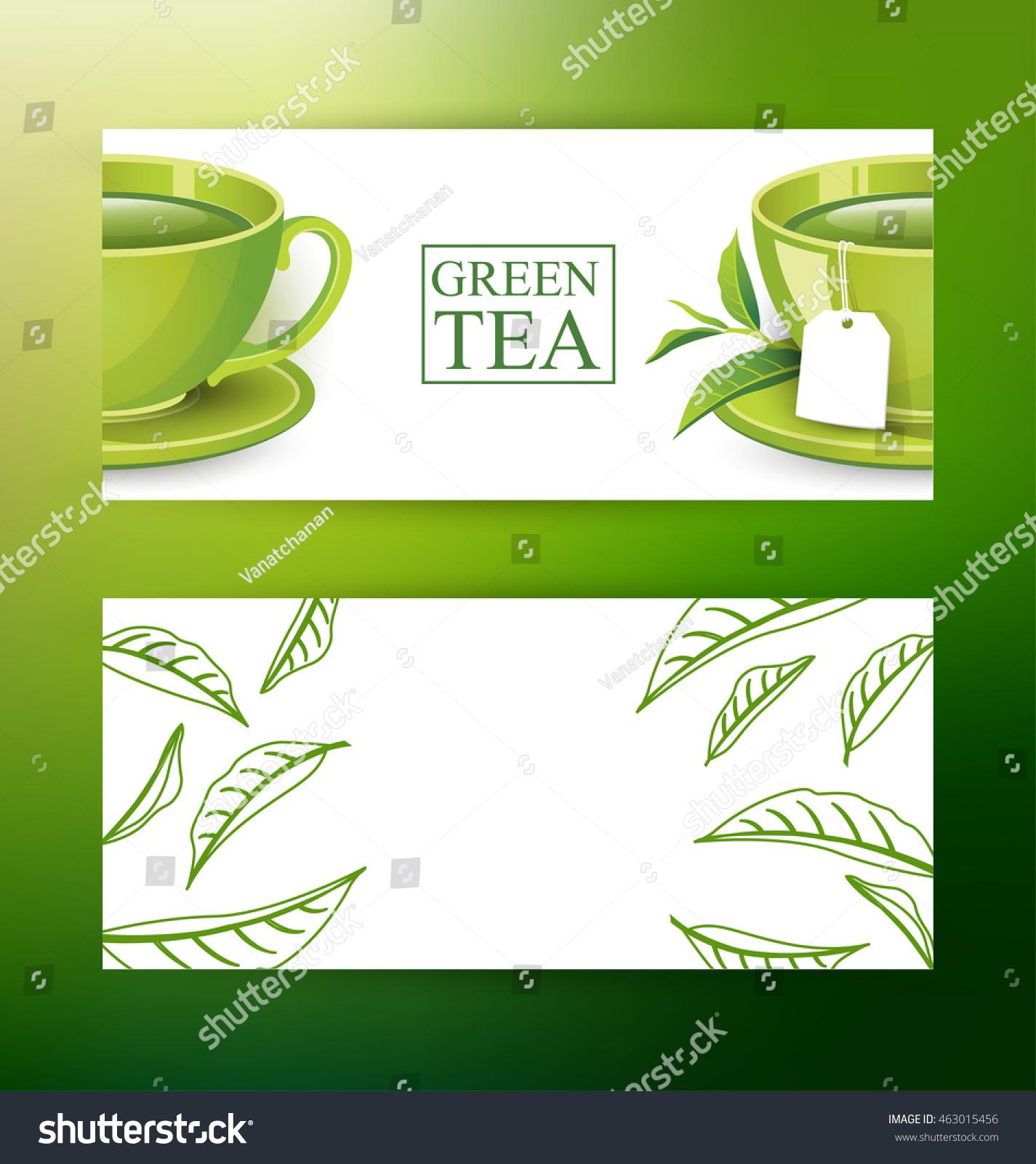 Design banner template - Design Banner Template Green Tea Vector Illustration