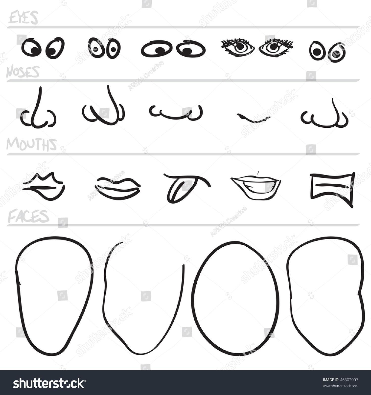 facial eye parts description