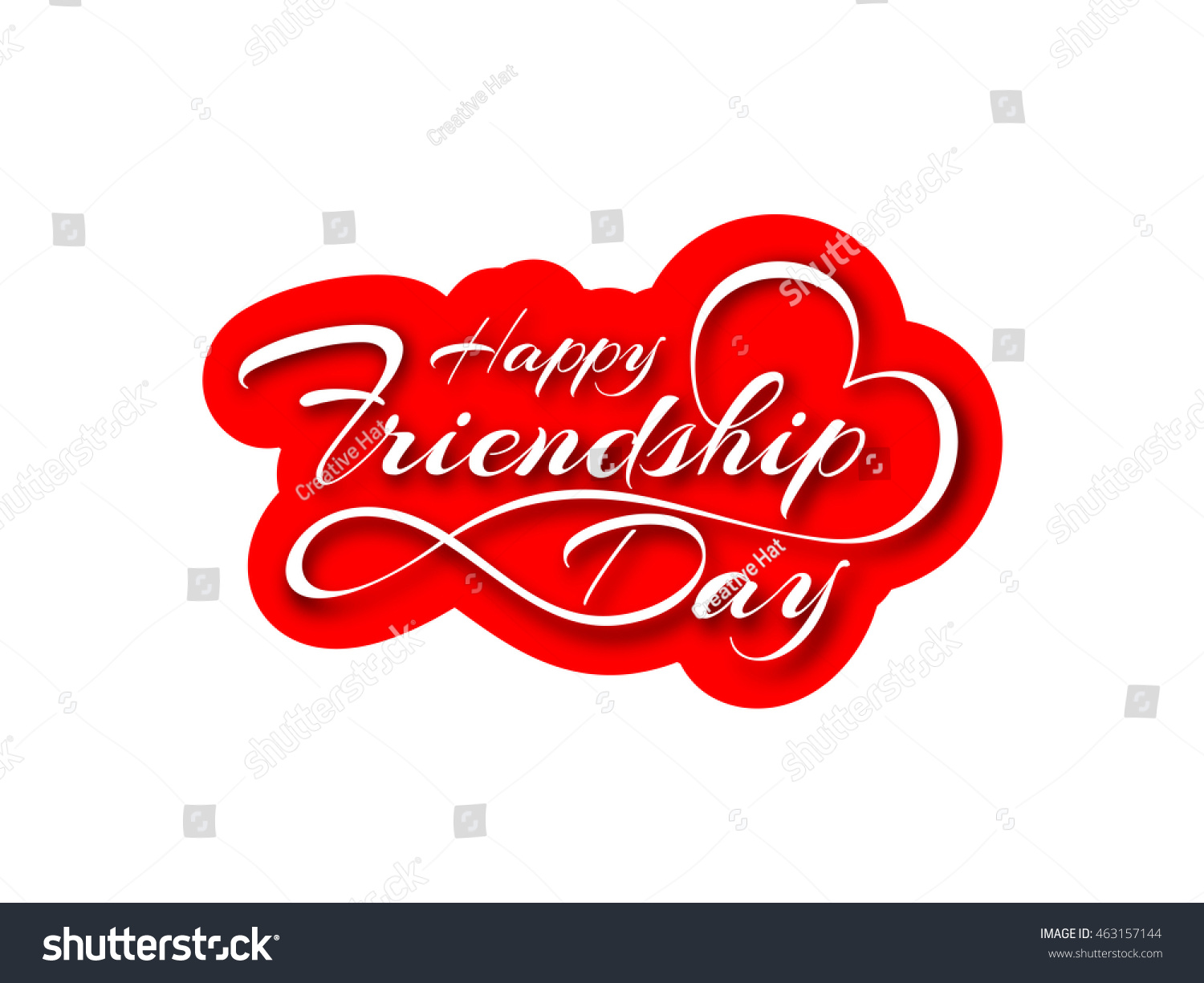 Happy Friendship Day Greeting Card Stock Vector Royalty Free