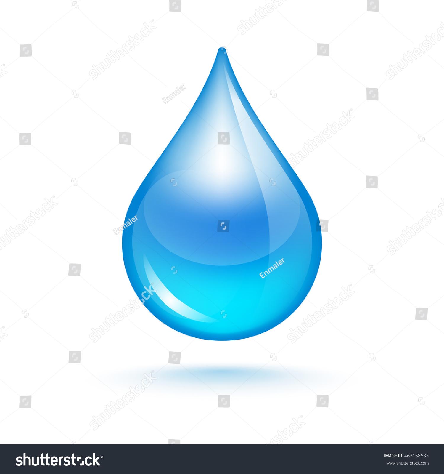 Drop Water Symbol Life Purity Stock Vector Royalty Free 463158683