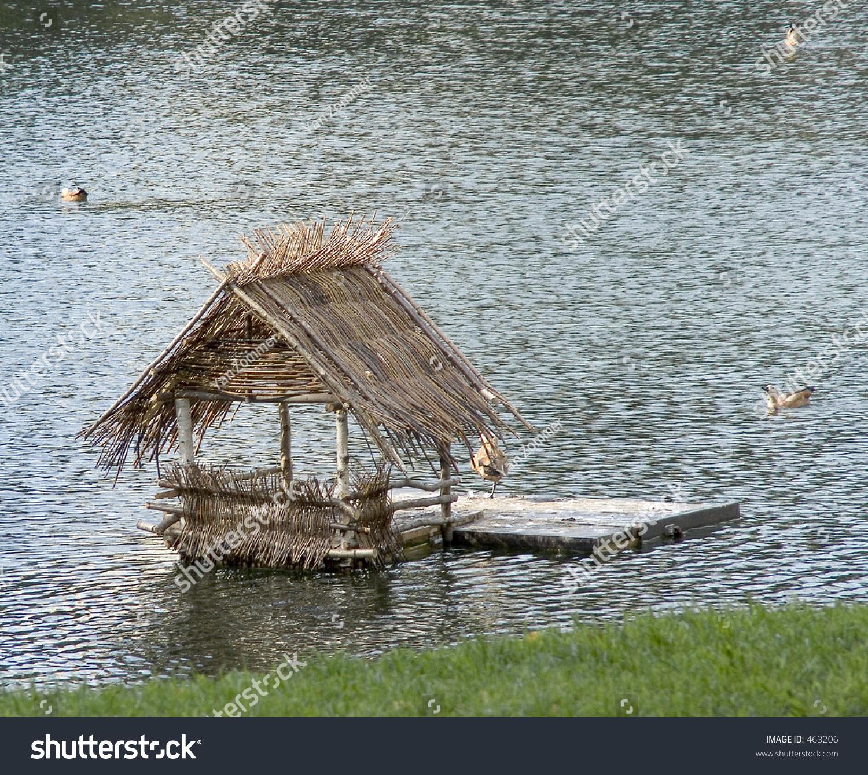 Домики на воде для уток своими руками фото