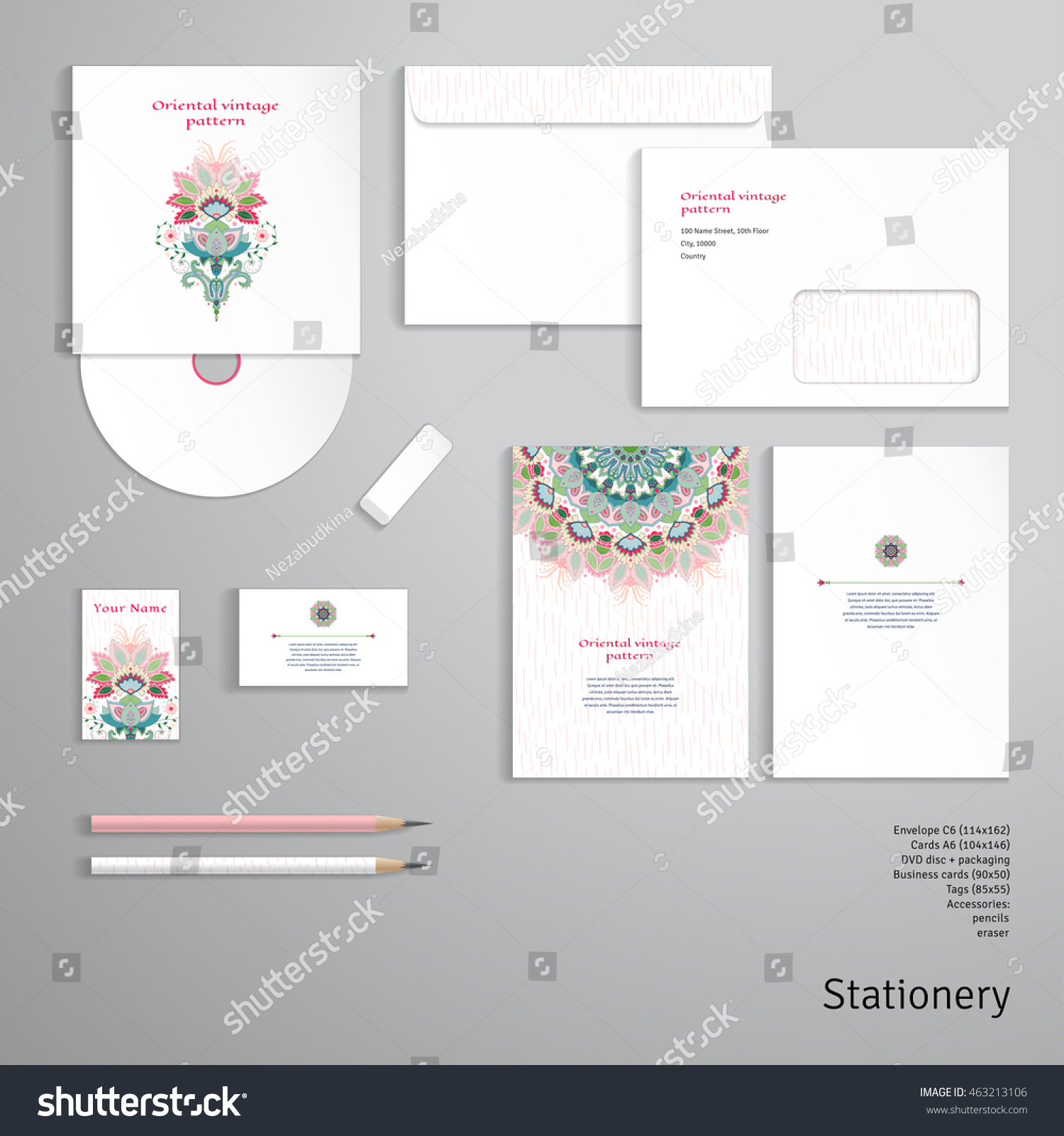 Vector Identity Templates Envelope Business Card Stock Vector HD ...