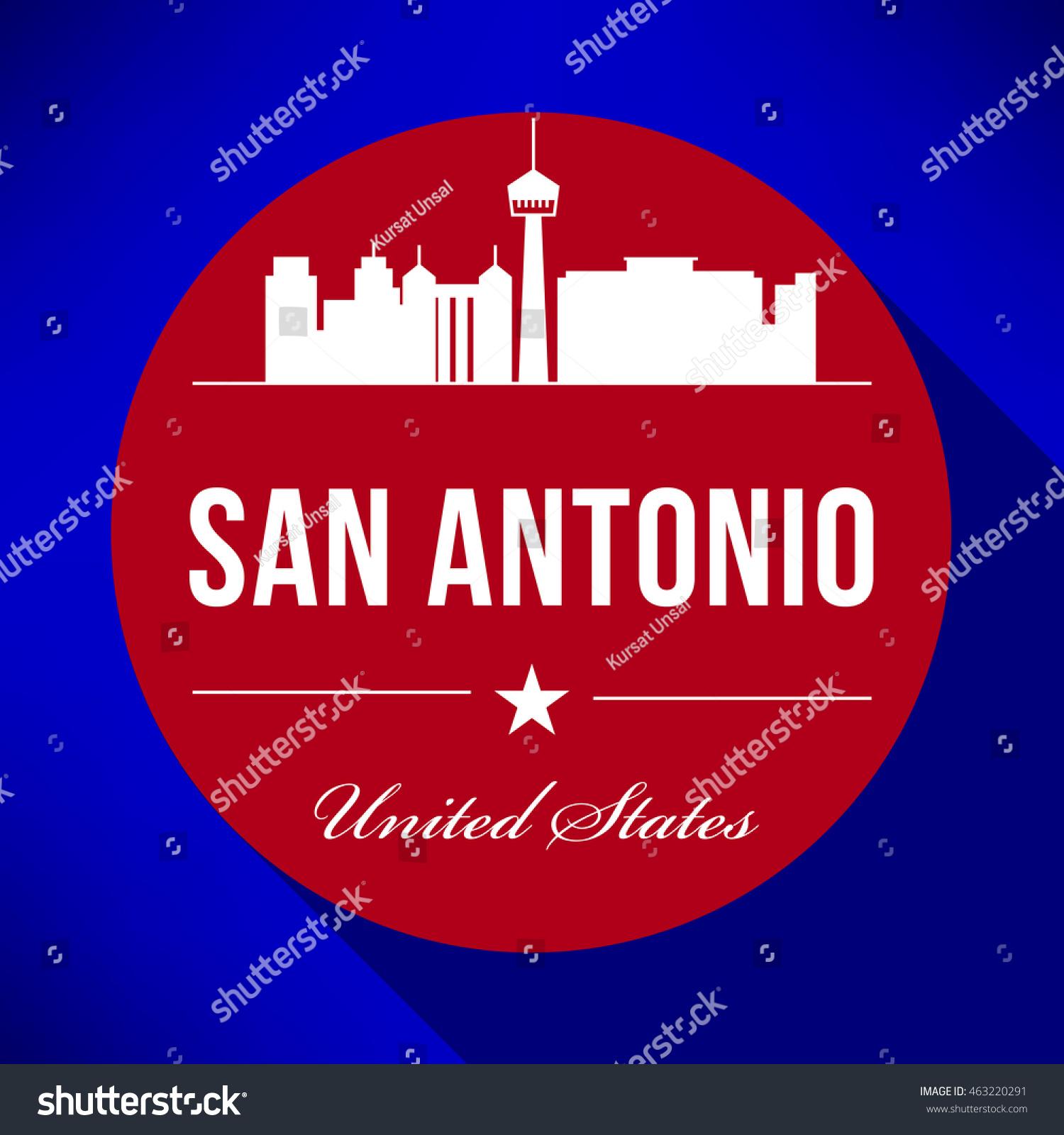 Vector San Antonio City Skyline Design Stock Vector