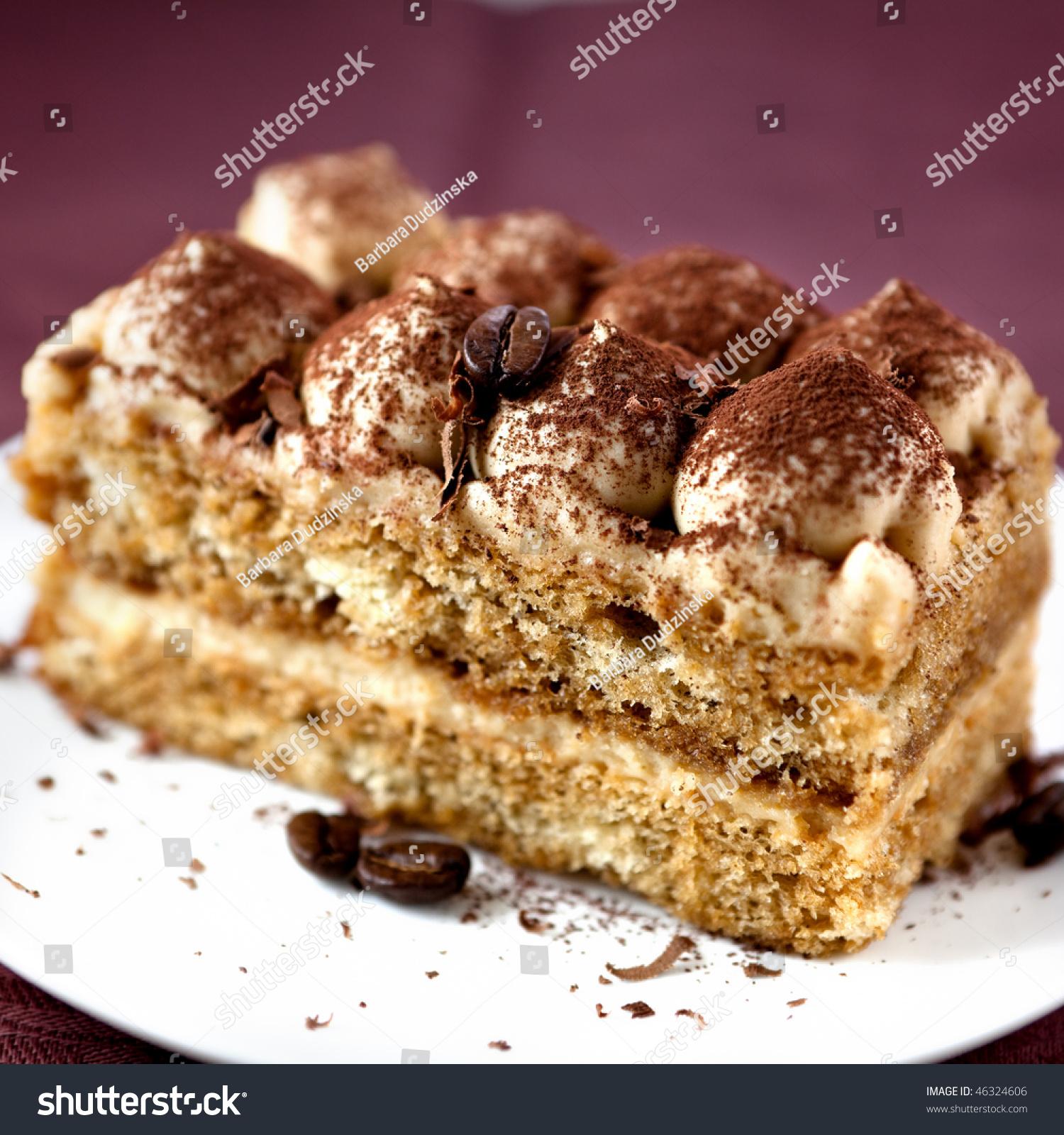Tiramisu Cake Cocoa Coffee Beans Stock Photo 46324606 ...
