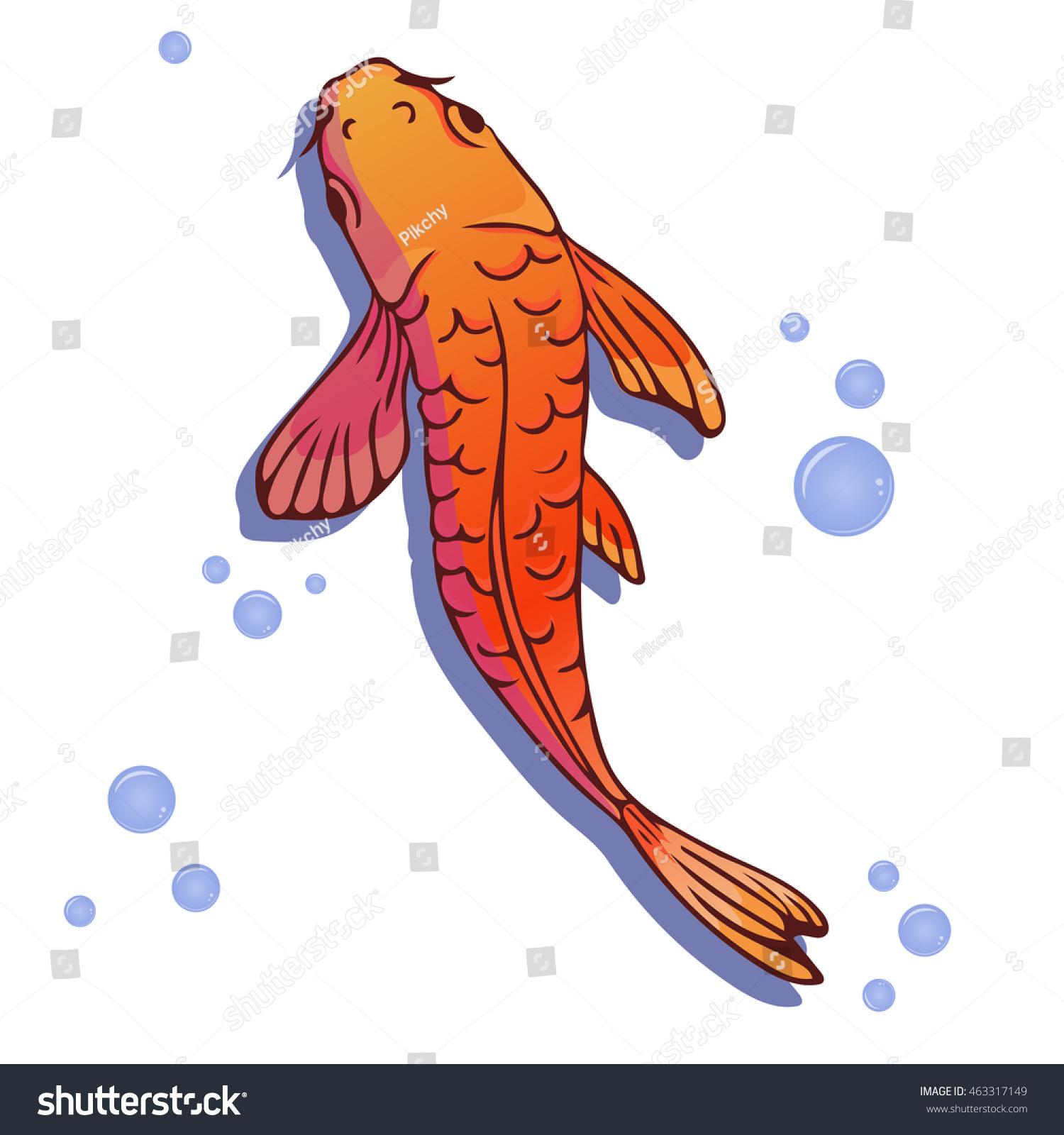 Red Gold Carp Koi Fish Vector Stock Vector 463317149 - Shutterstock