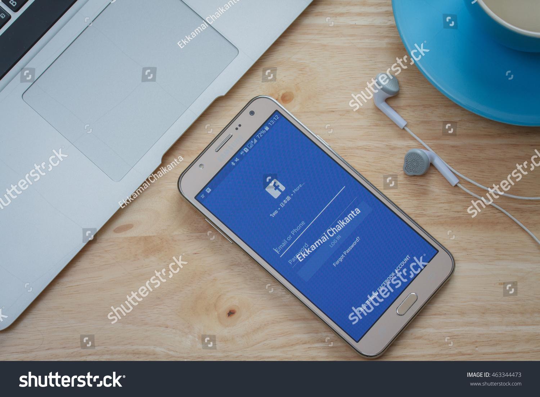 BANGKOKTHAILAND Aug 04 2016 Facebook Log Stock Photo (Edit Now