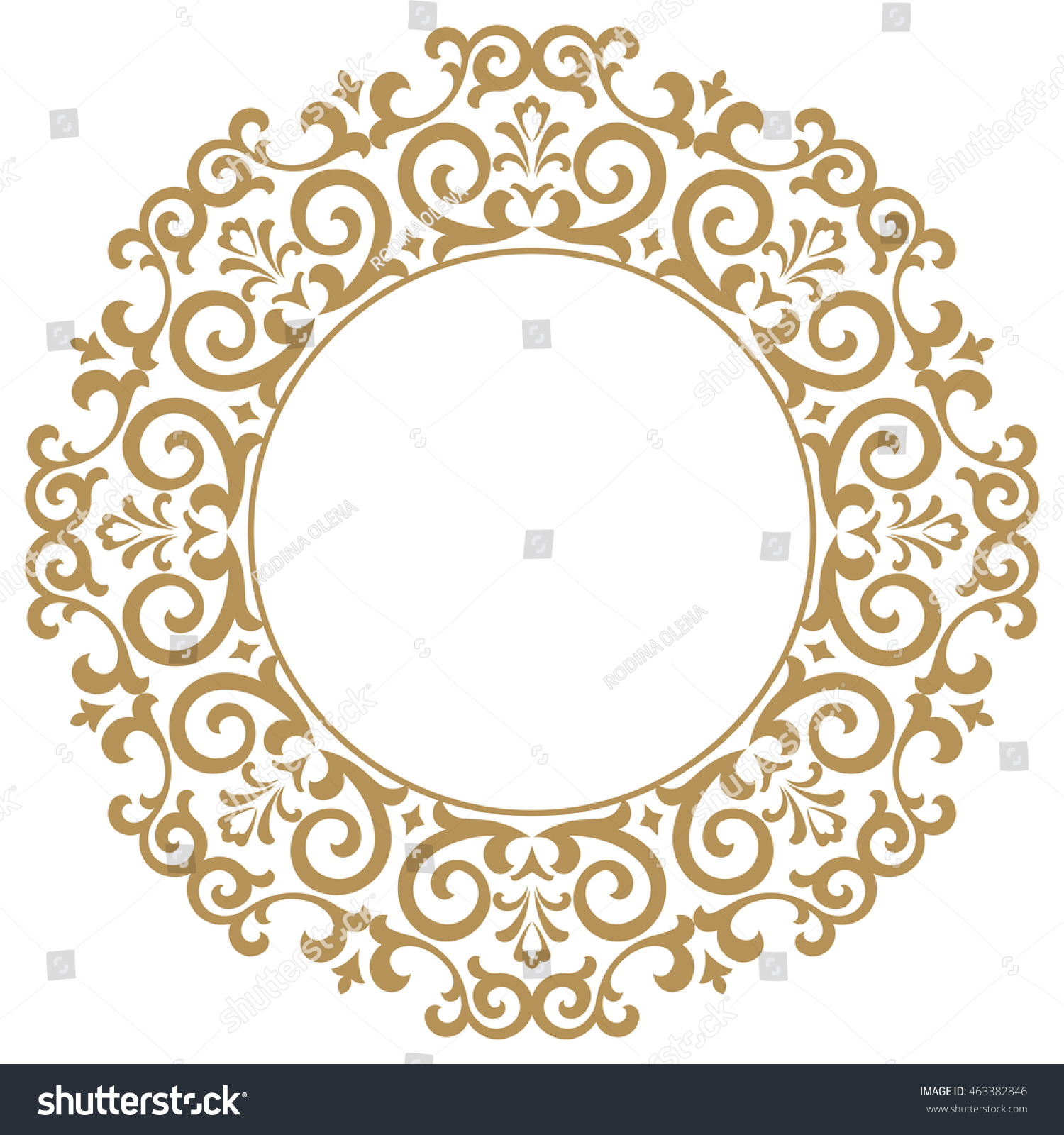 Frame Design Line Art : Decorative line art frames design template stock