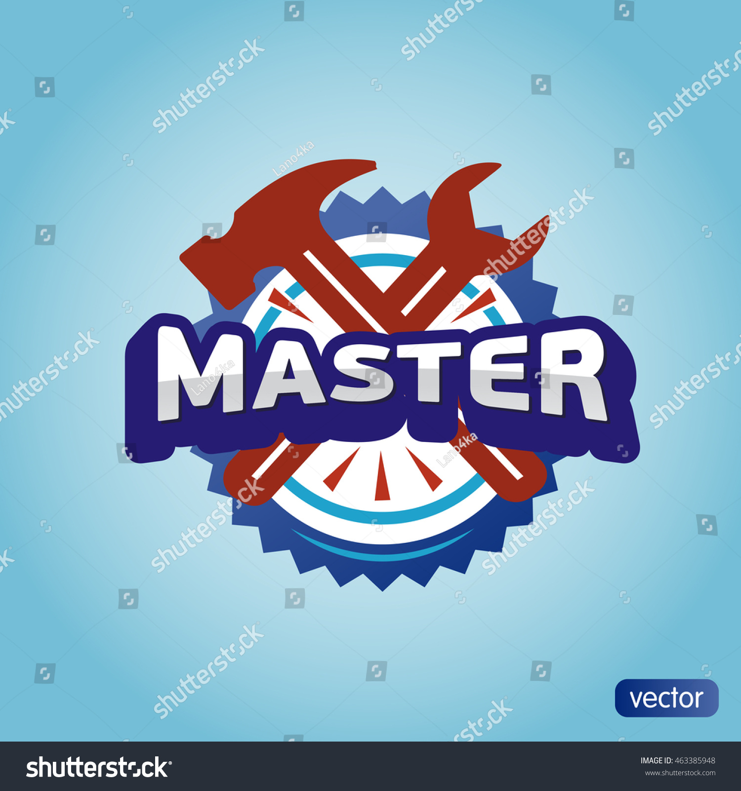 Logo master lettering brand symbol service stock vector 463385948 logo master lettering brand symbol service mark on a light background vector illustration text biocorpaavc Image collections