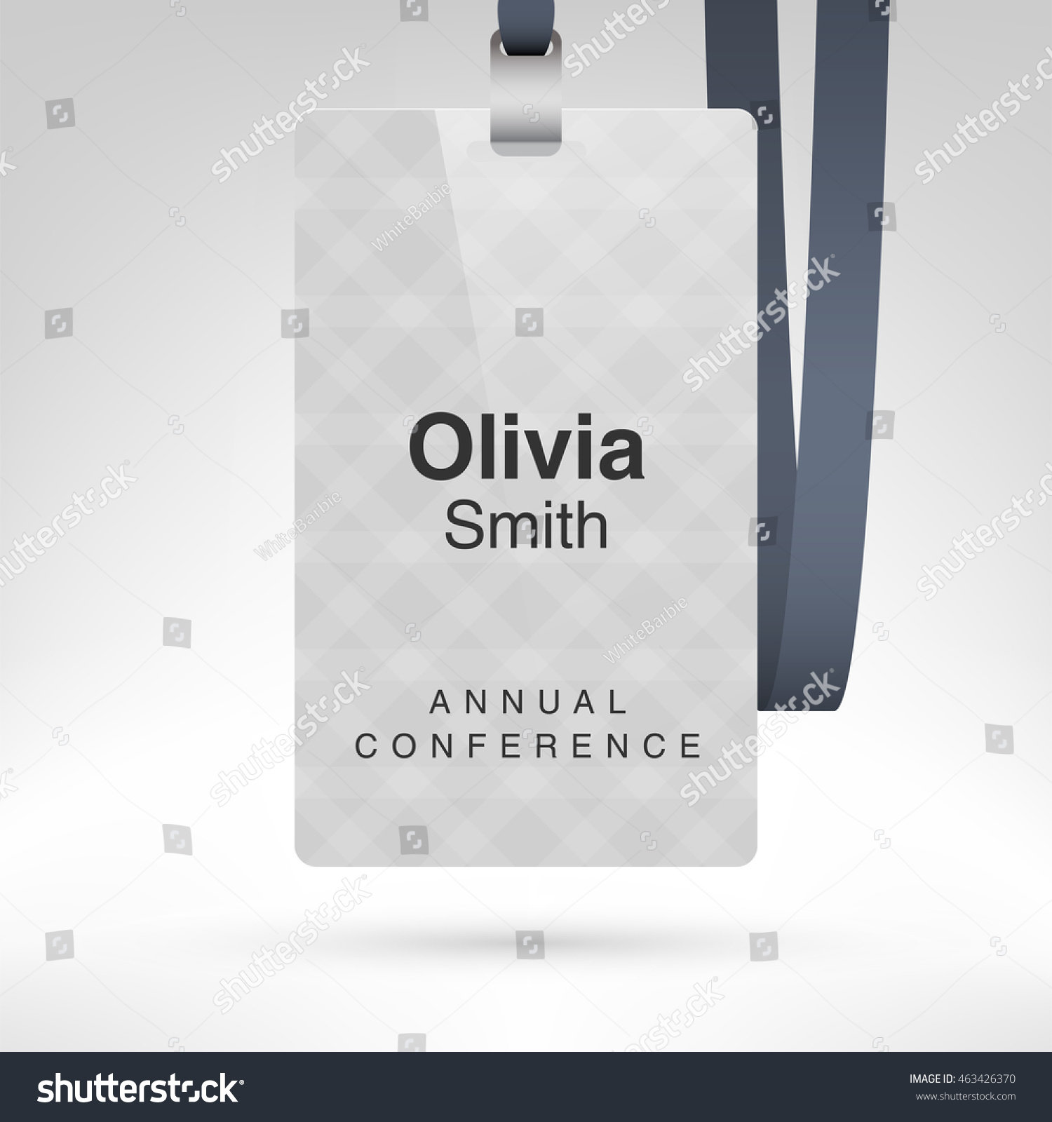 white conference badge name tag placeholder stock vector royalty