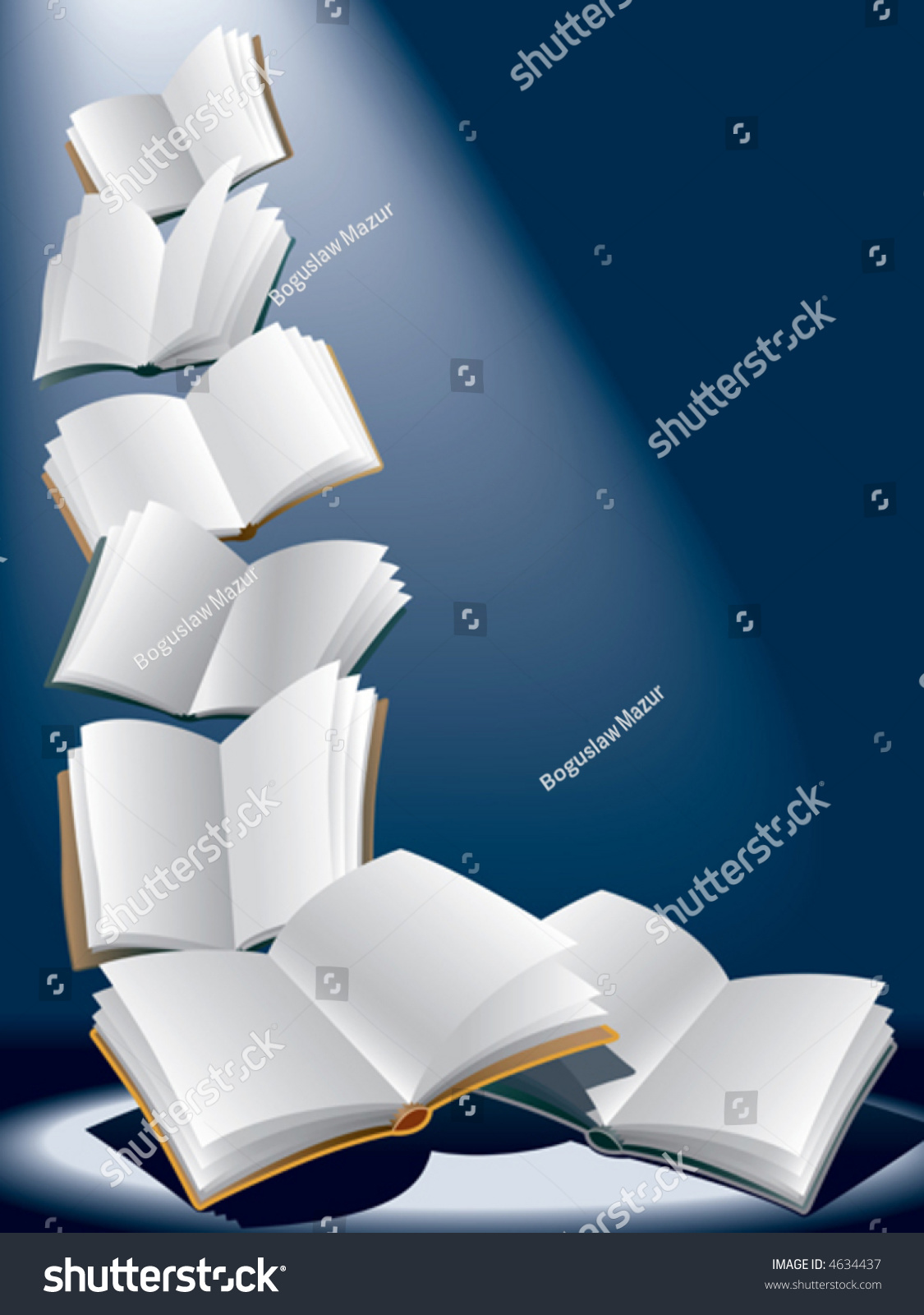 Open Flying Books Vector Stock Vector 4634437 - Shutterstock
