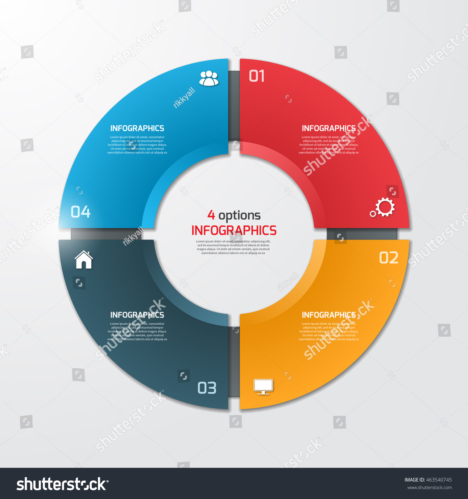 Pie chart circle infographic template 4 stock vector 463540745 pie chart circle infographic template with 4 options business concept vector illustration nvjuhfo Choice Image