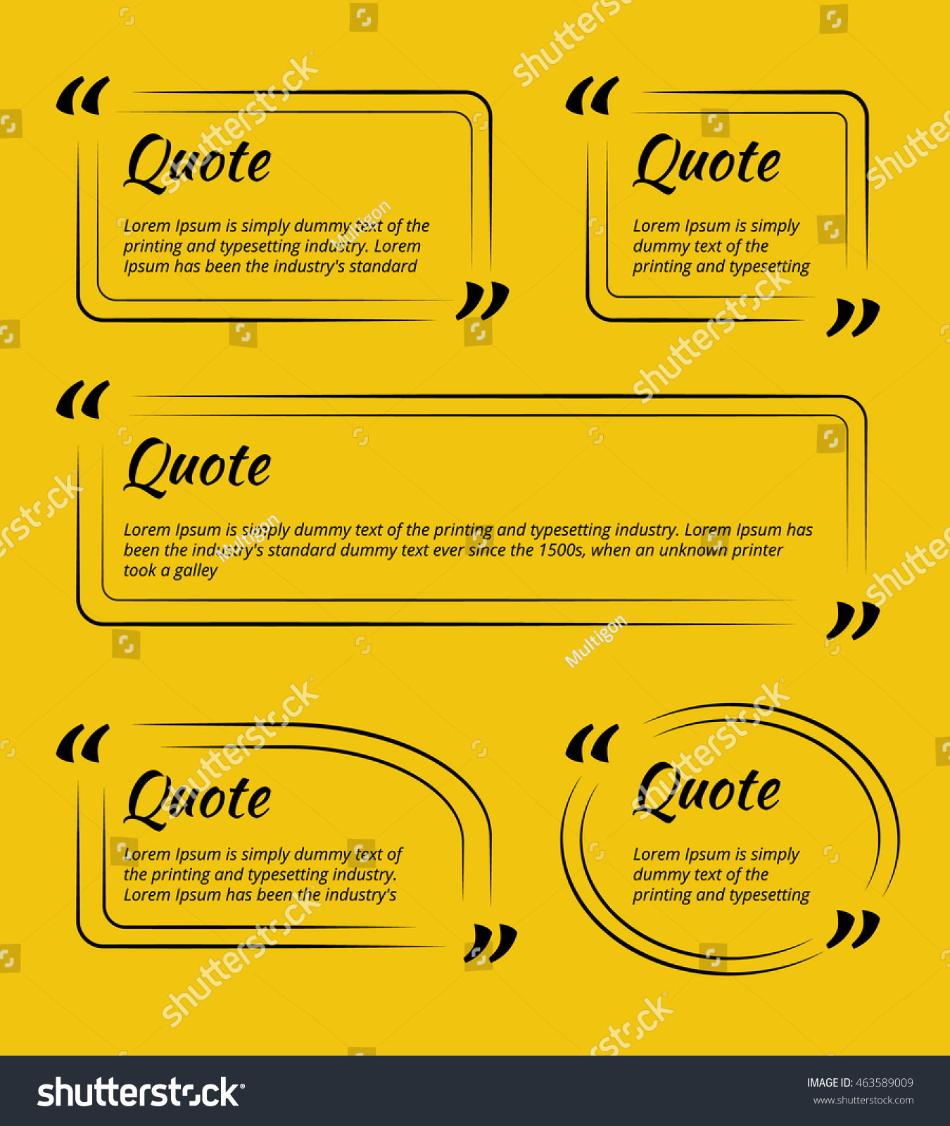 Set quote blank template business card stock illustration 463589009 set of quote blank template for business card paper sheet information text reheart Choice Image
