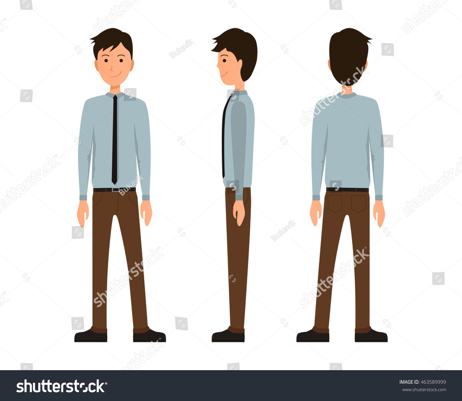 Vector illustration three business men official stock vector vector illustration of three business men in official clothes under the white background flat people ccuart Choice Image