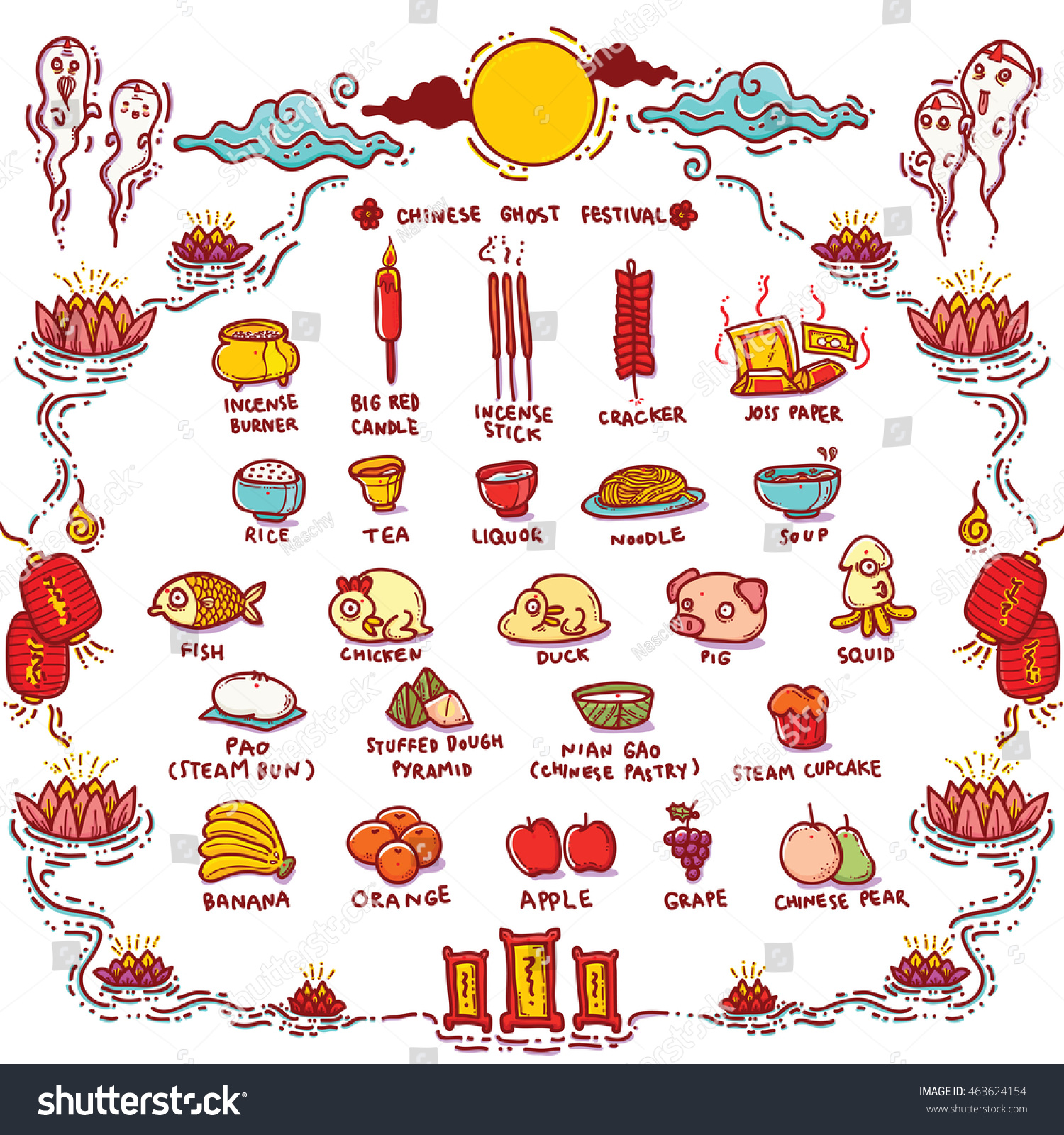 Hungry Ghost Festival Food Offerings