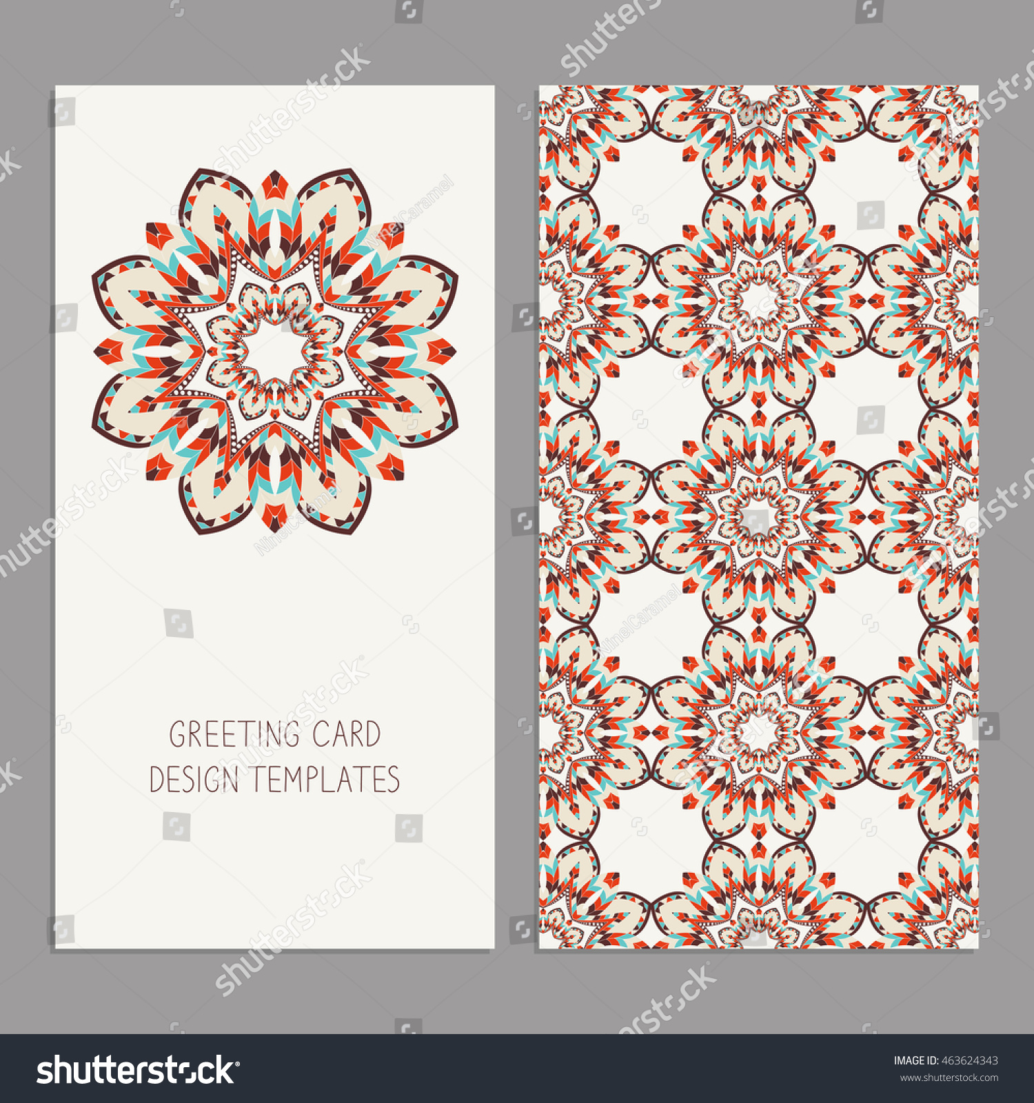 Templates Greeting Business Cards Floral Motifs Stock Vector (2018 ...