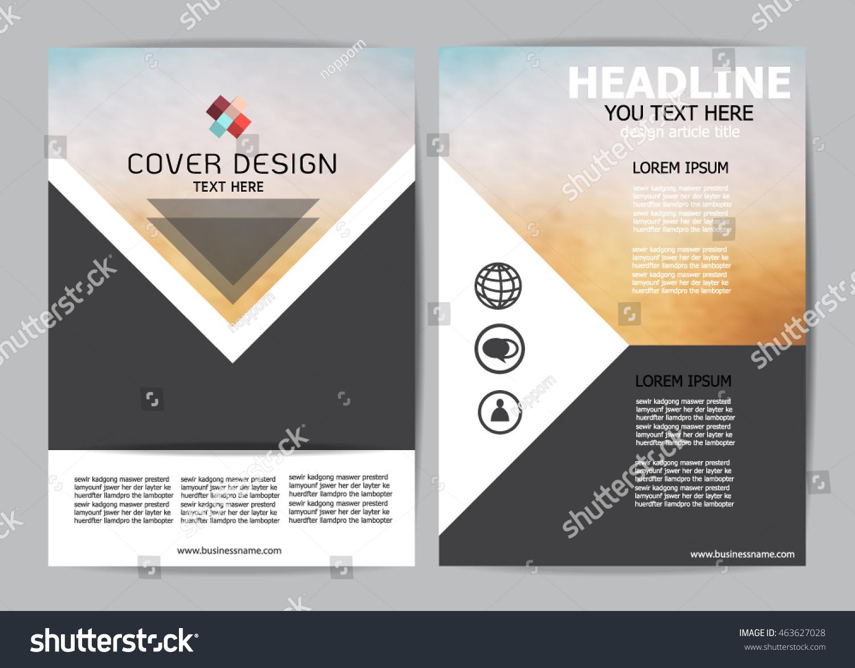 Brochure Design Templates Flyer Layout A 4 Stock Photo (Photo ...