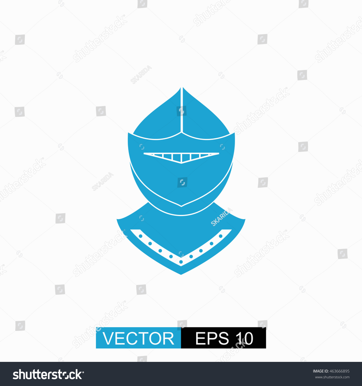 Knight Vector Isolated Blue Icon On Stock Vector 463666895 ...