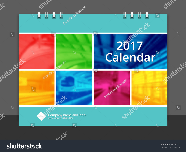 Cover Calendar Design Vector : Desk calendar font cover design stock vector