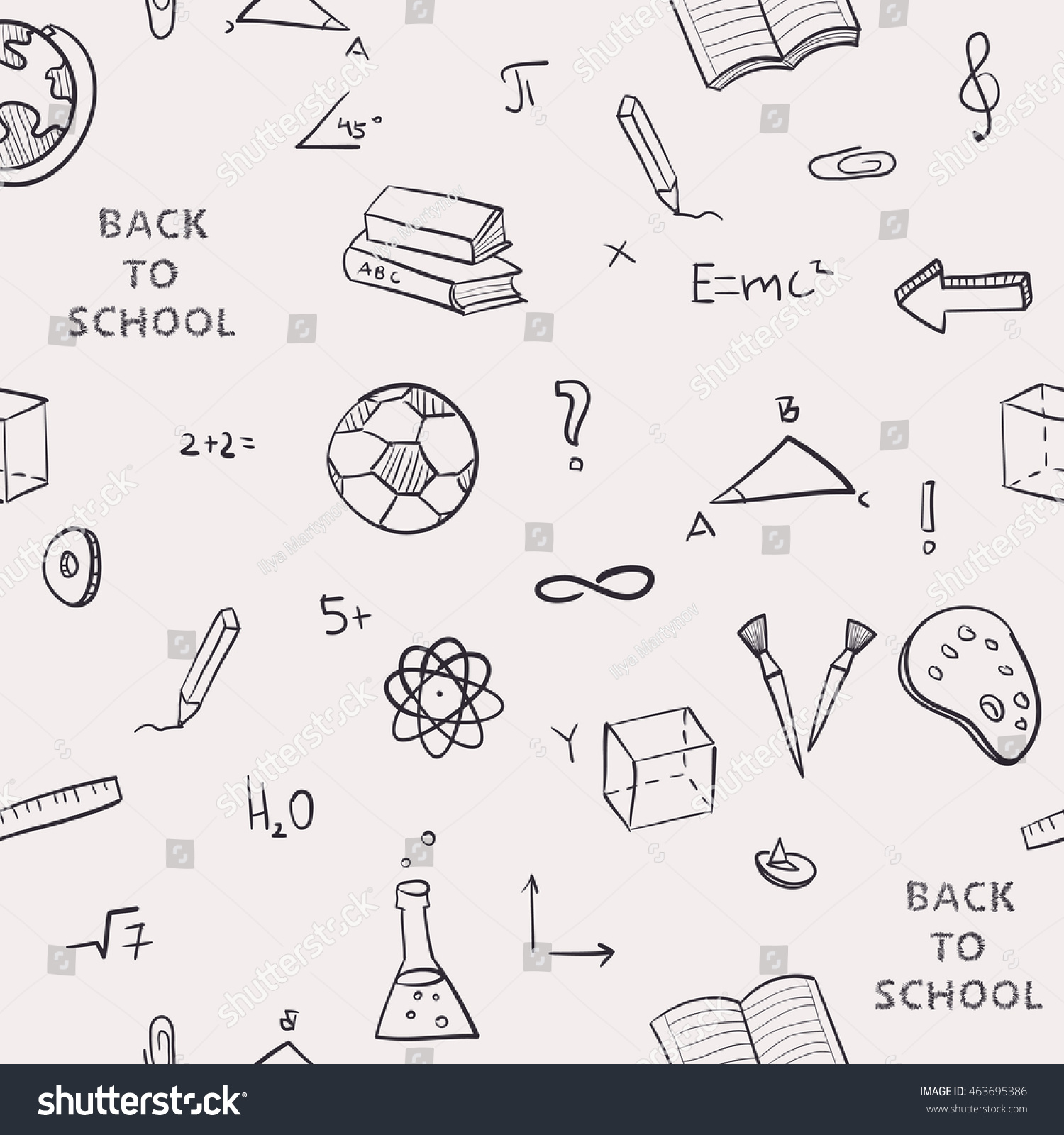 Seamless pattern back school kids doodles vectores en stock seamless pattern back to school of kids doodles with bookspen and world map gumiabroncs Images