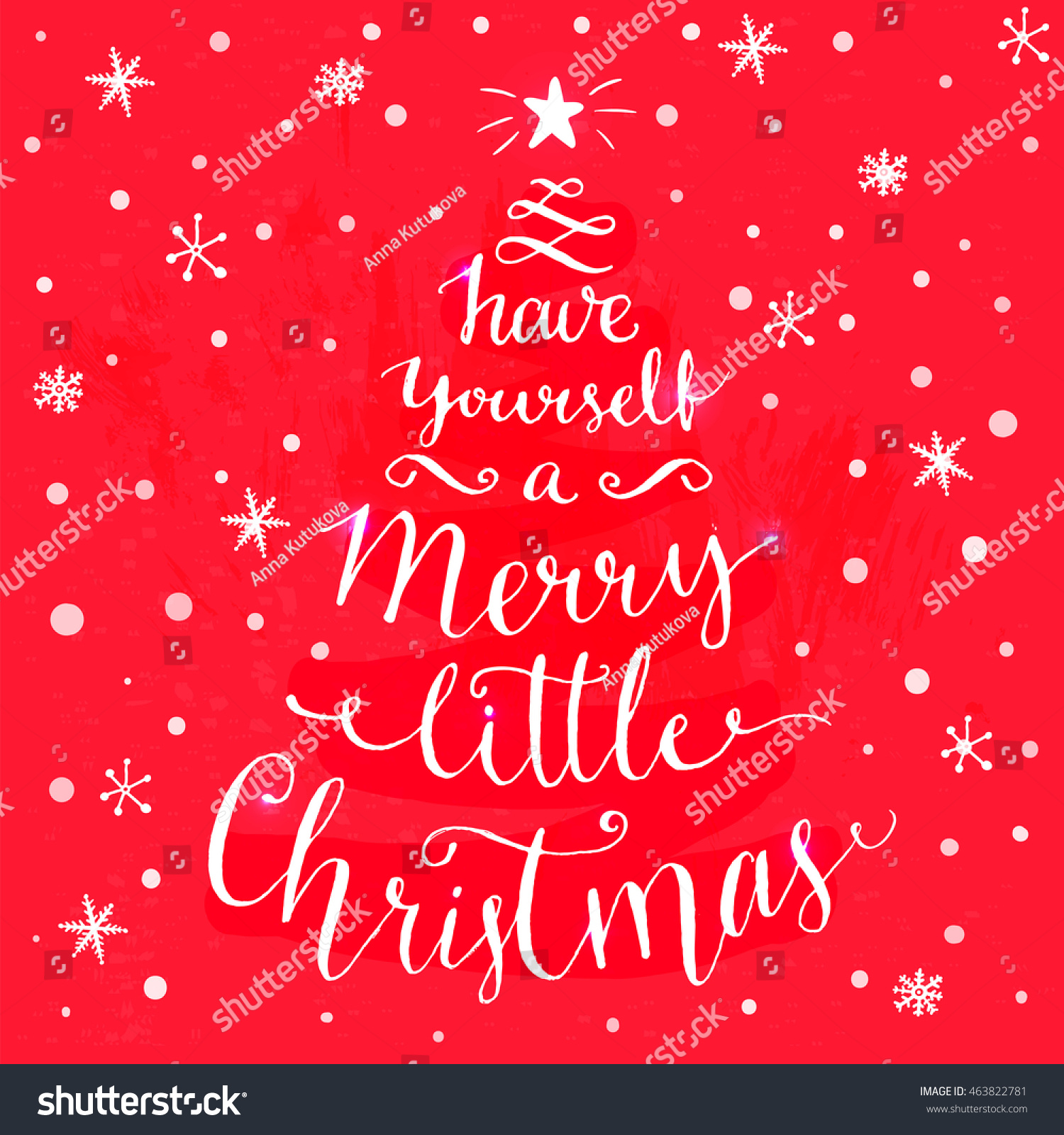 Have Yourself Merry Little Christmas Whimsical Stock ...