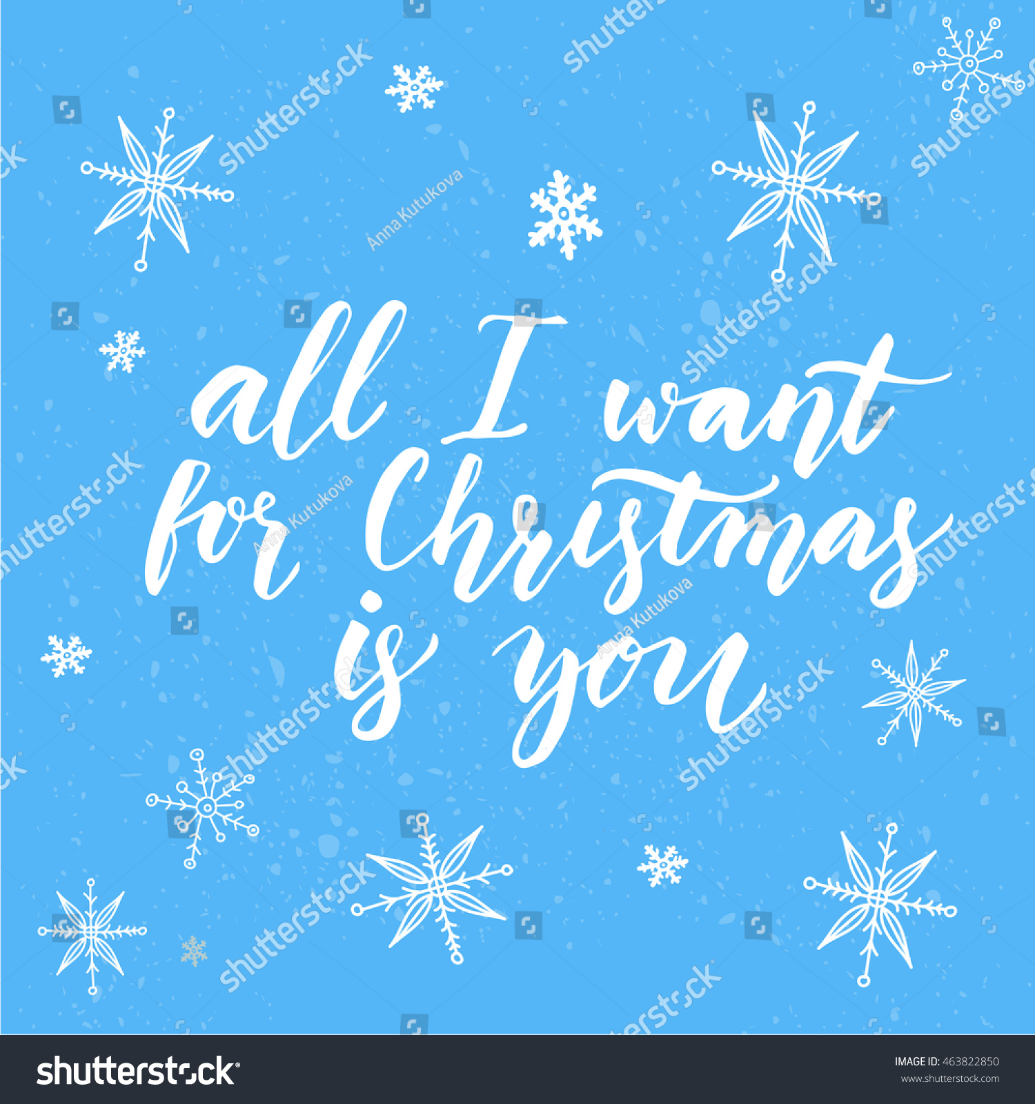 All Want Christmas You Inspirational Quote Stock Illustration