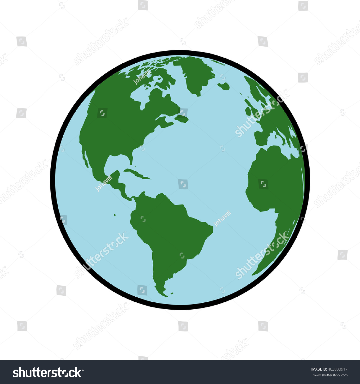 Planet Map Earth World Sphere Icon Stock Vector Royalty Free