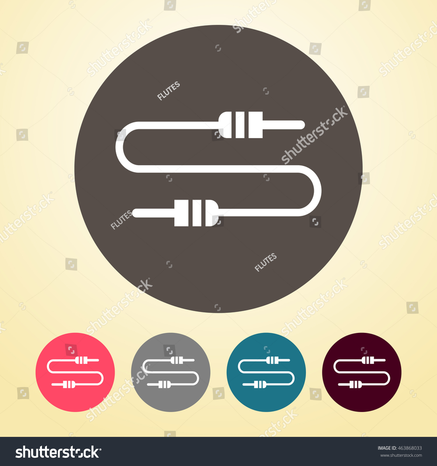 Datajack Symbol Wiring Data Jack Cable Icon Round Shape Stock Vector Shutterstock 1500x1600