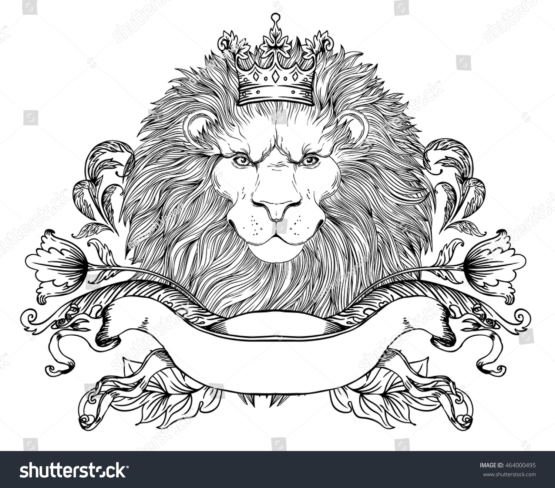Royalty Free Decorative Illustration Of Heraldic 464000495 Stock