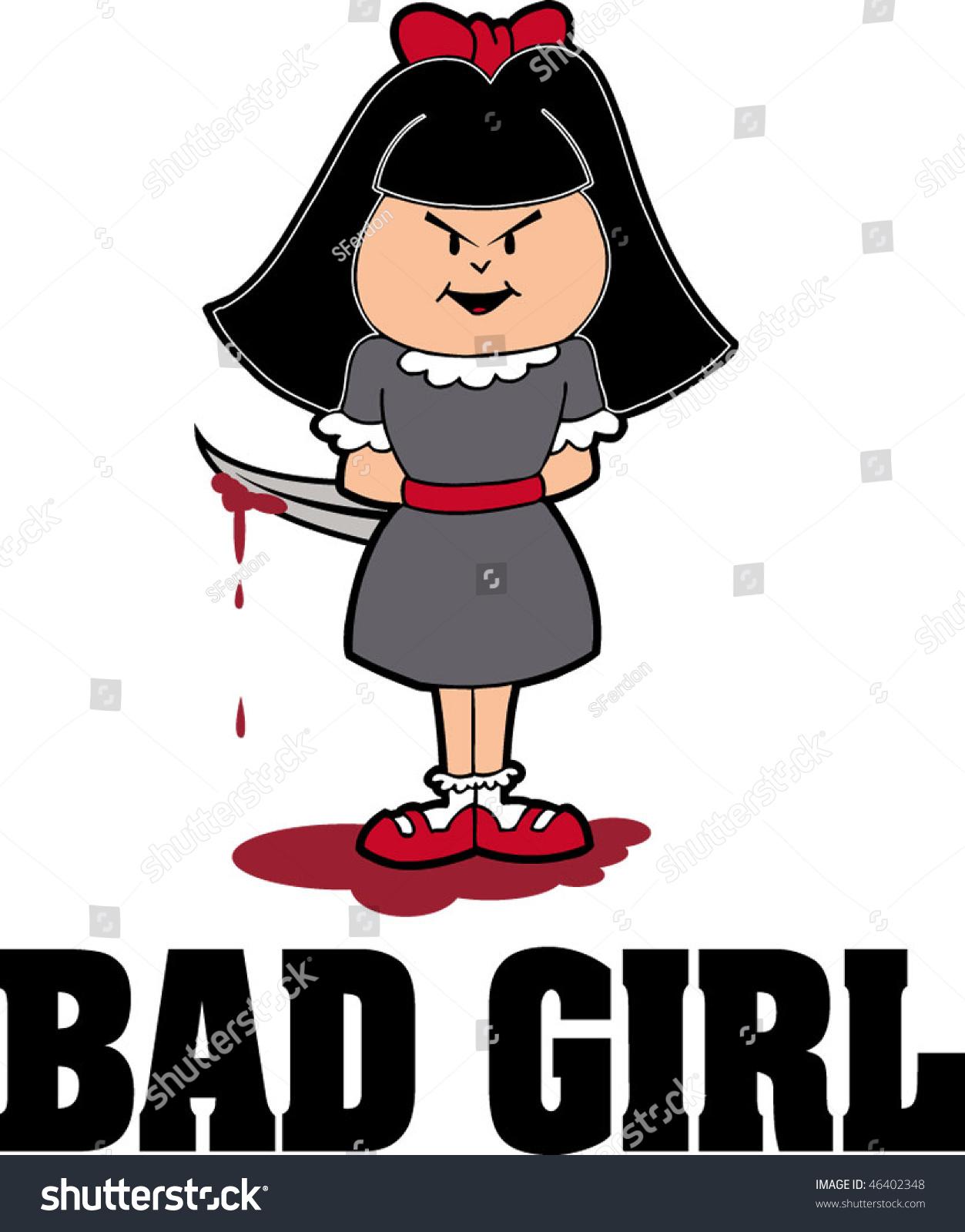 Bad Girl Stock Vector 46402348