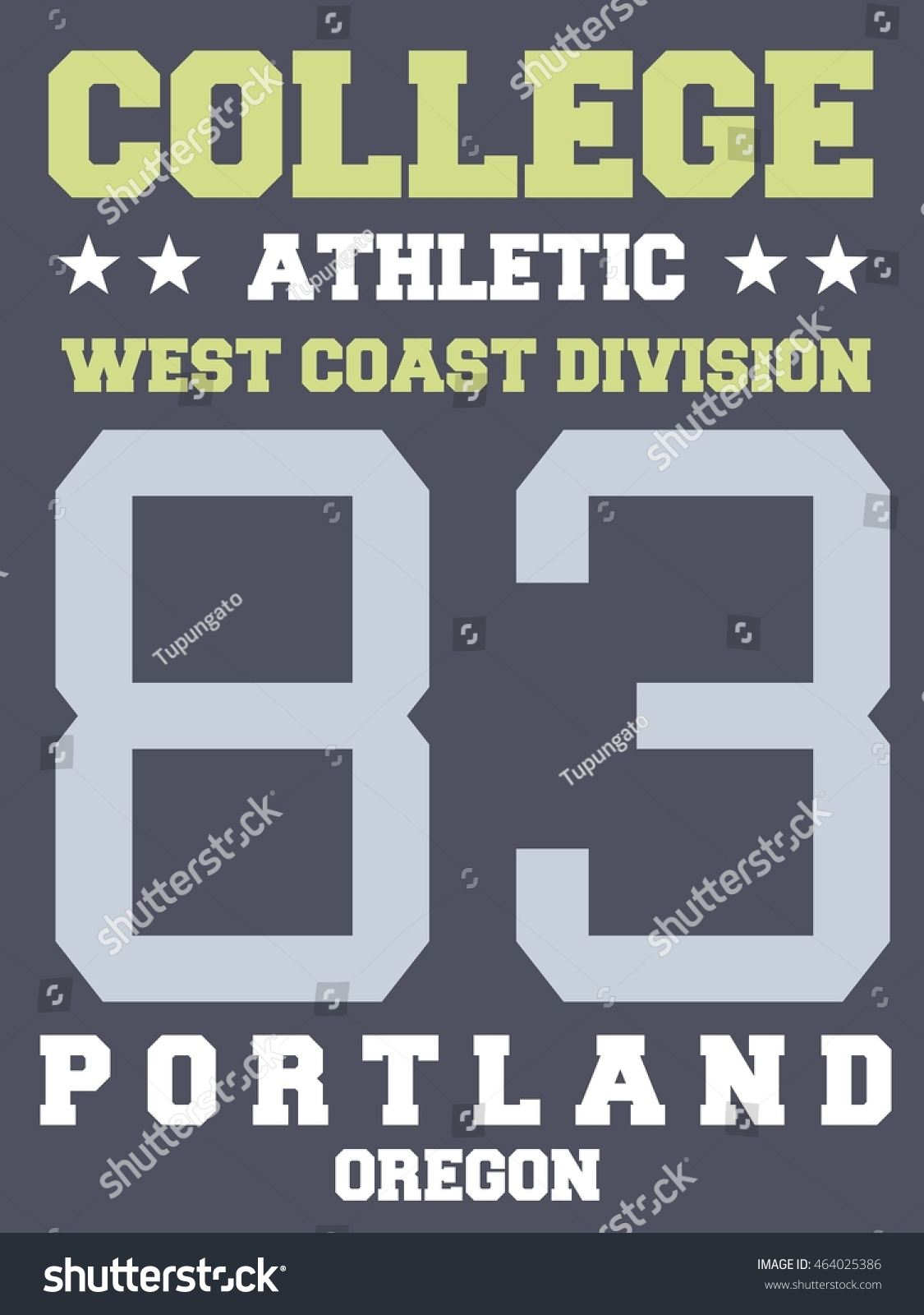 College Sports Team Jersey Design Athletic Stock Vector Royalty