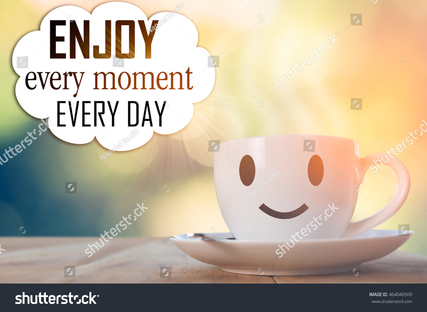 Inspirational Quote,life Quote.Coffee Background