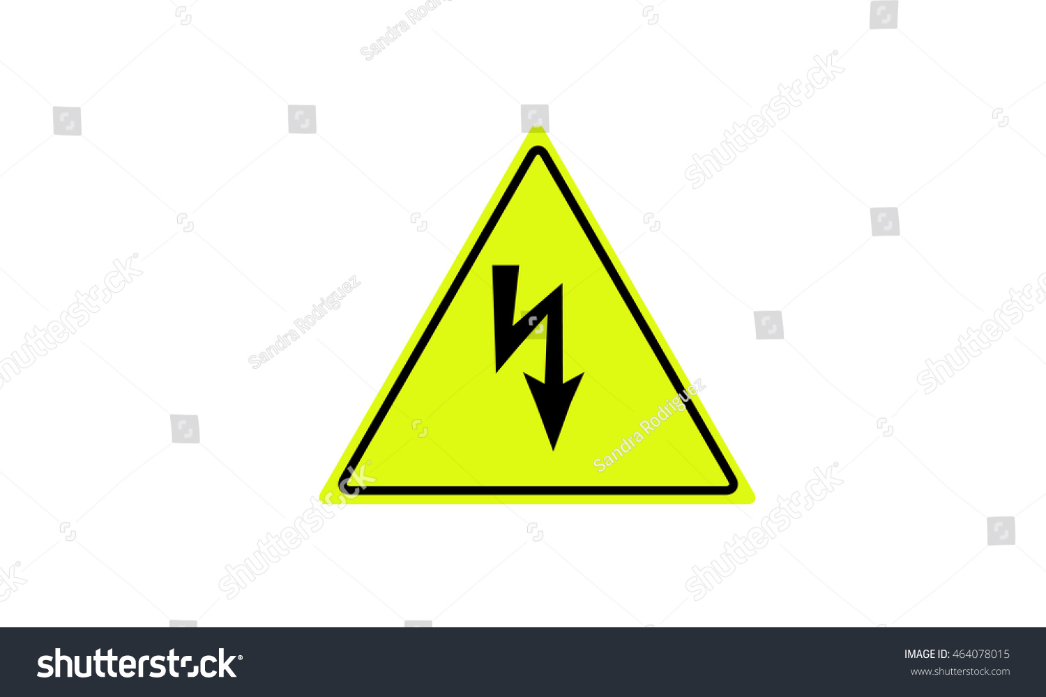 Warning Dangerous Electrical Voltage Stock Illustration 464078015