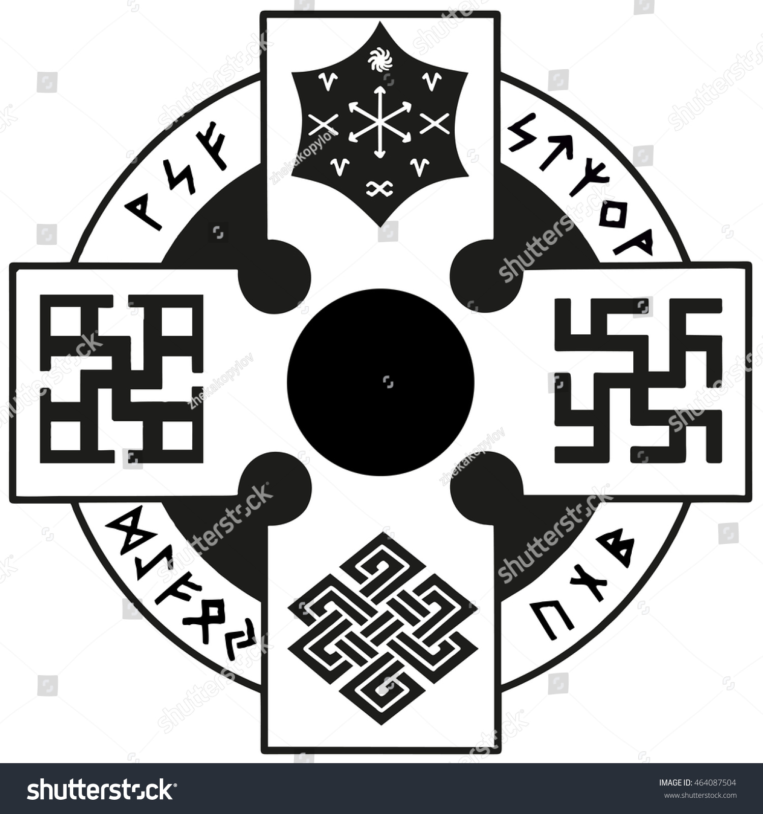 Slavic amulet runes carries sacred meaning stock vector 464087504 slavic amulet with runes carries a sacred meaning pointing to the spiritual development of the biocorpaavc Gallery