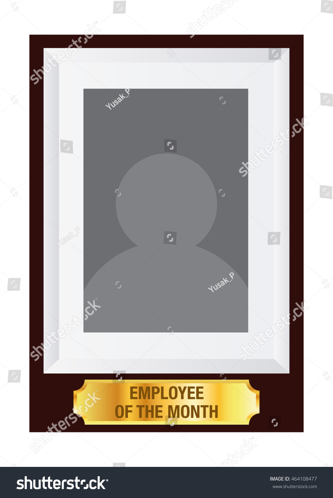 Vector Stock Of Employee The Month Award Photo Frame Template