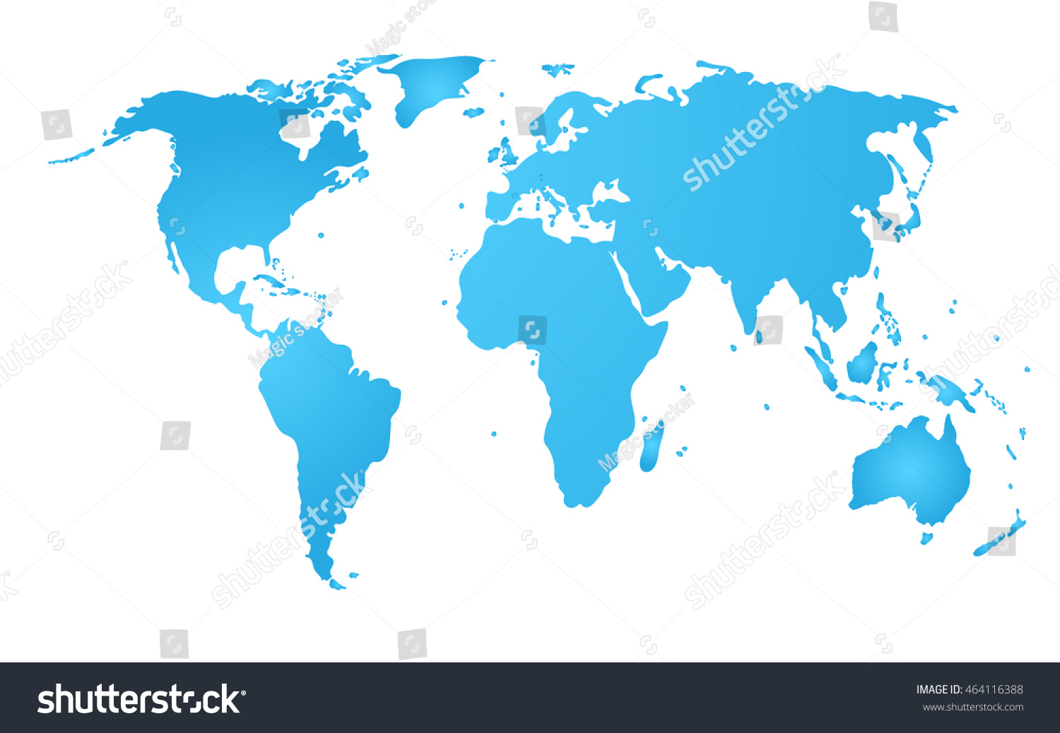 Blue world map vector vectores en stock 464116388 shutterstock blue world map vector gumiabroncs Images