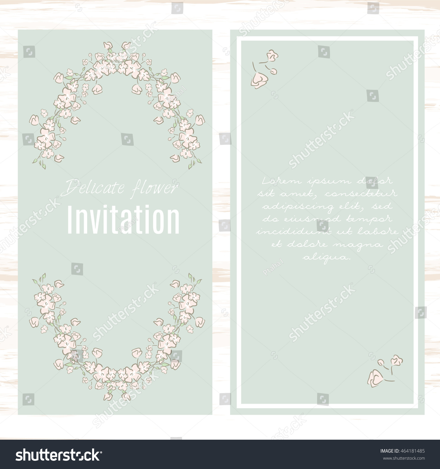 Pastel Green Greeting Card Template Floral Vector 464181485 – Greeting Card Format