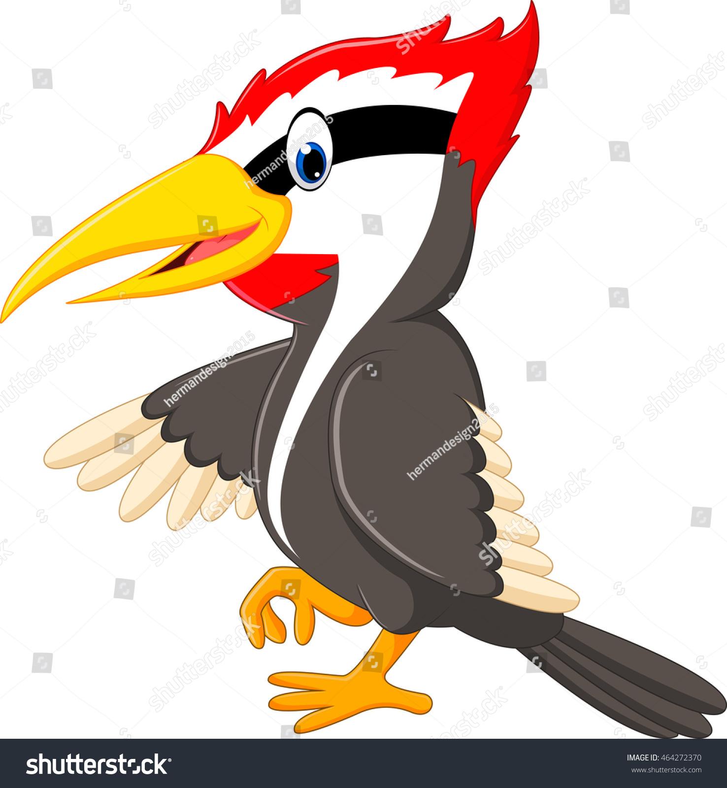 Woodpecker Bird Cartoon Stock Vector 464272370 - Shutterstock
