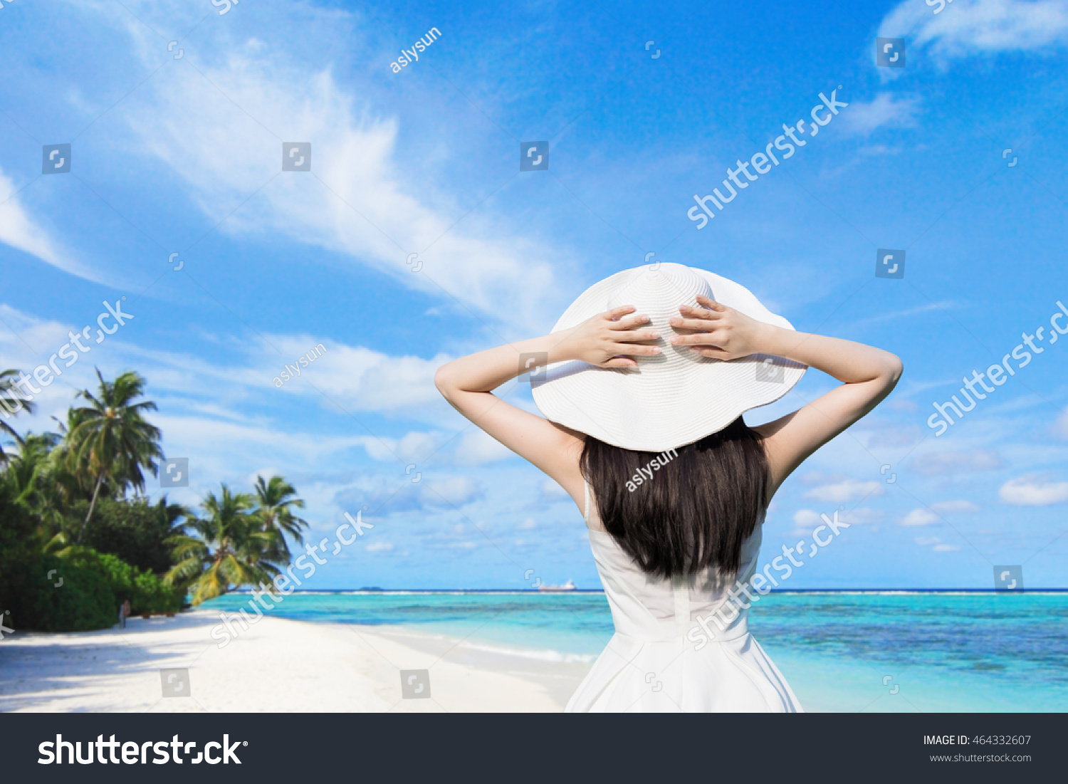 stock photo woman wearing clothes beach
