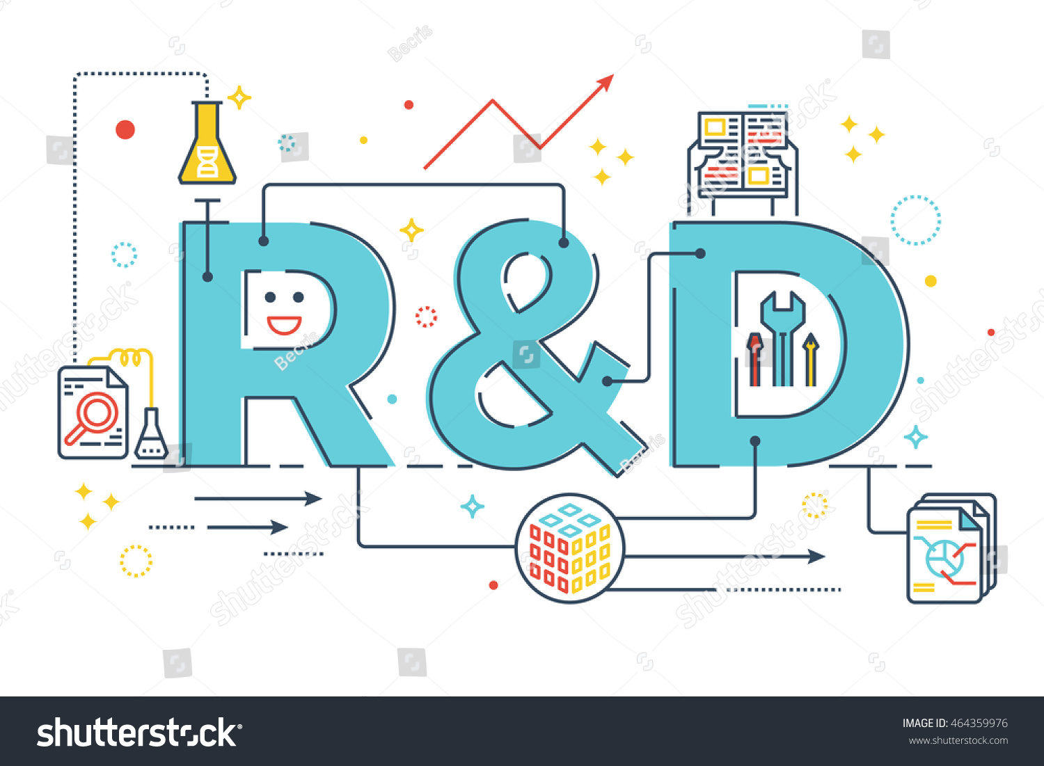 rd research development word lettering typography stock vector 464359976 shutterstock. Black Bedroom Furniture Sets. Home Design Ideas