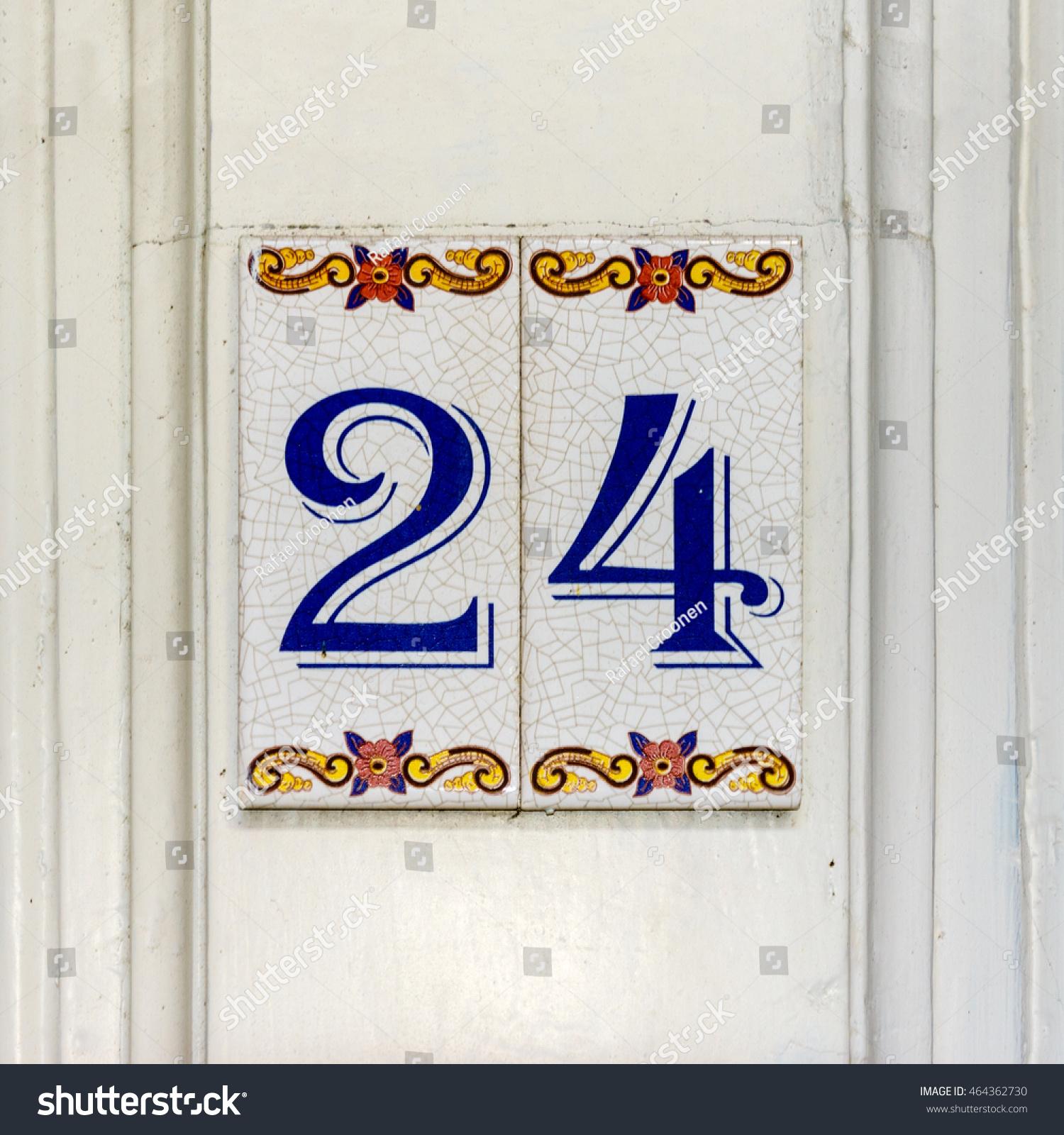 House Number Twenty Four 24 Stock Royalty Free