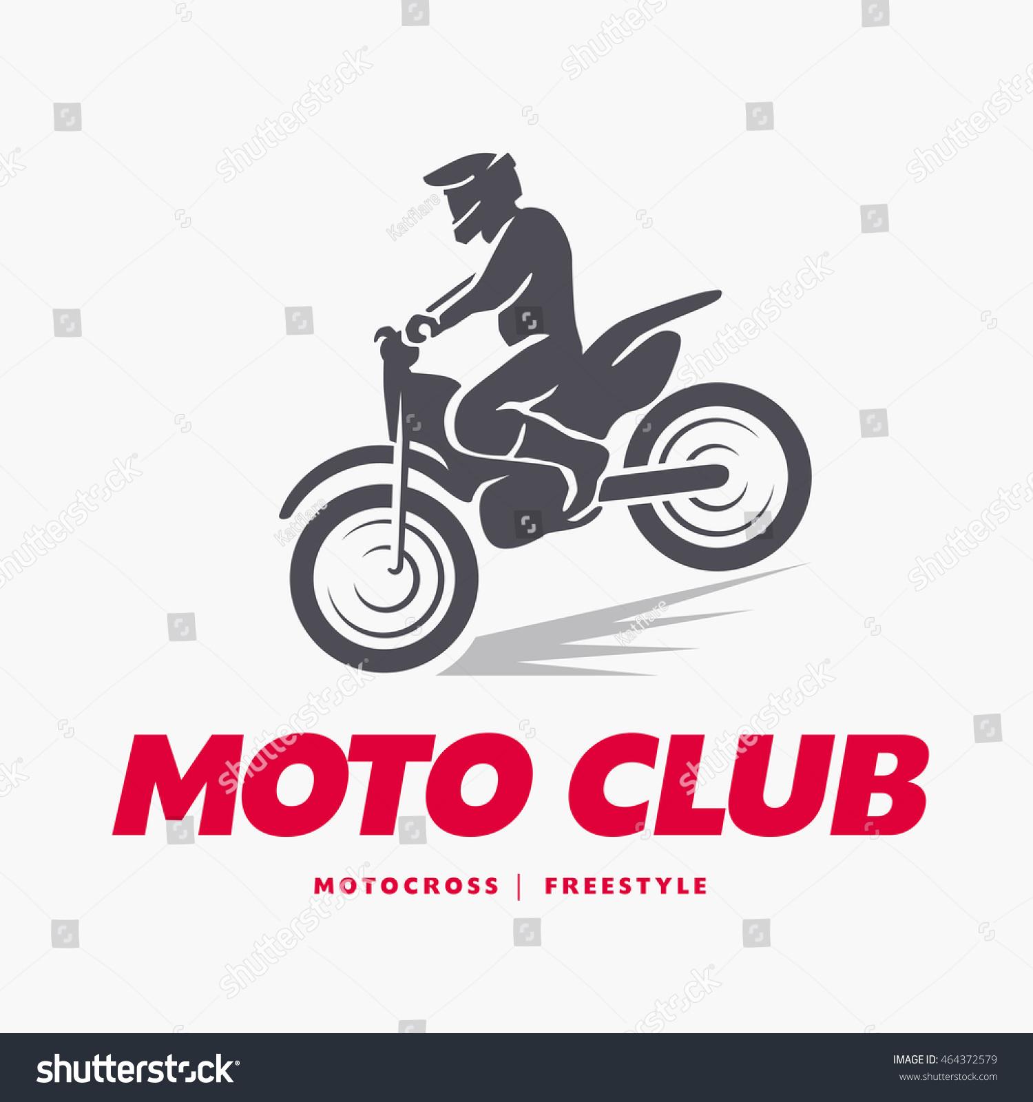 Motofree royalty-free flat moto free style racer icon… #464372579 stock photo