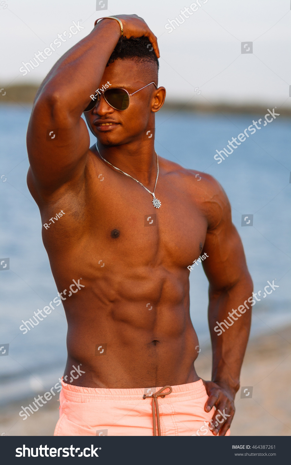 Hot black male nude