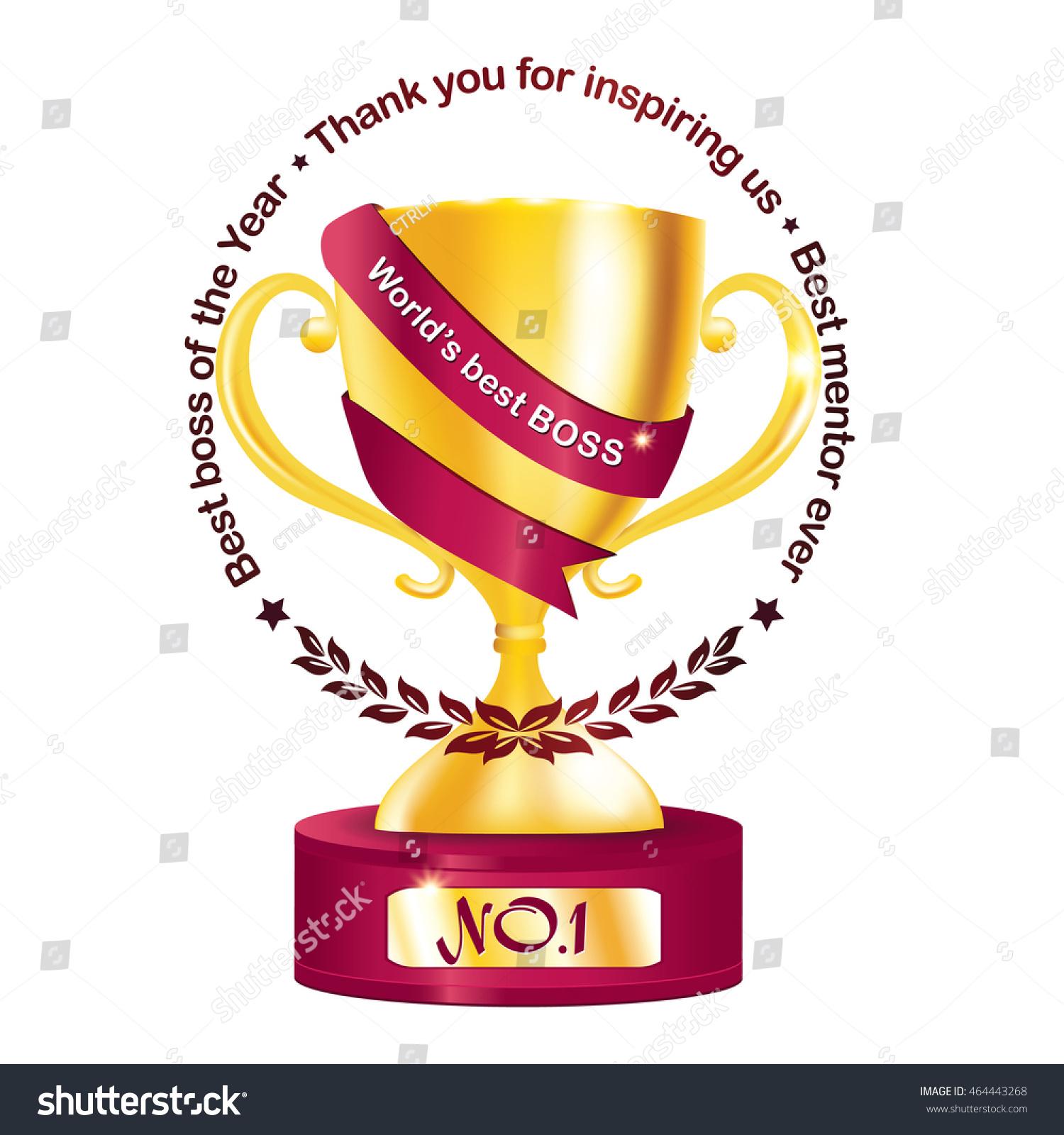 best boss year thank you inspiring stock vector  best boss of the year thank you for inspiring us best mentor ever