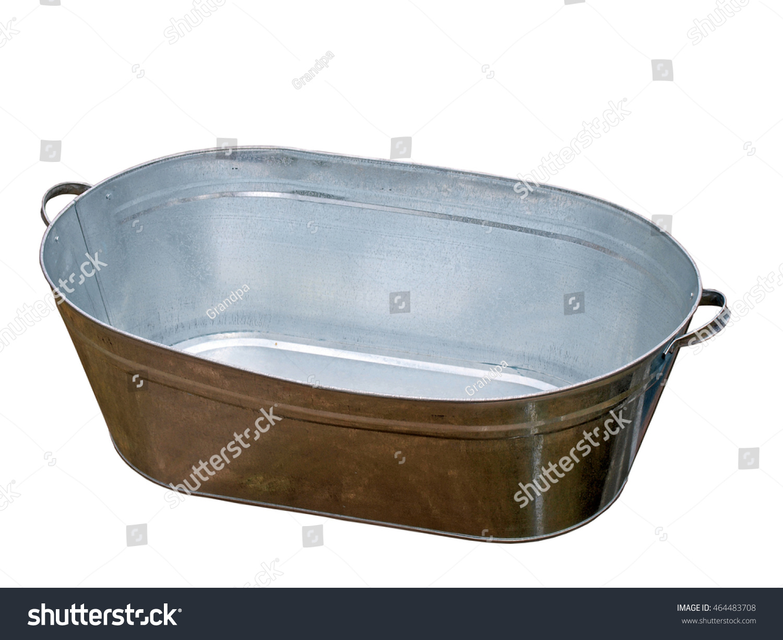 Tin Sheet Metal Bath Tub Isolated Stock Photo (Royalty Free ...
