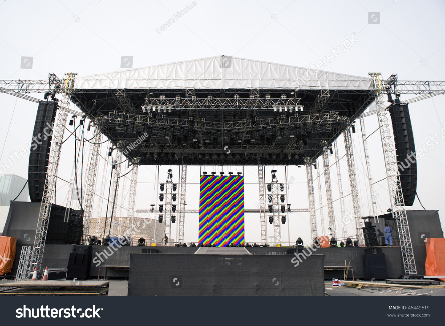 Empty outdoor rock stage - Empty Outside Concert Stage Empty Rock Stage Related Keywords