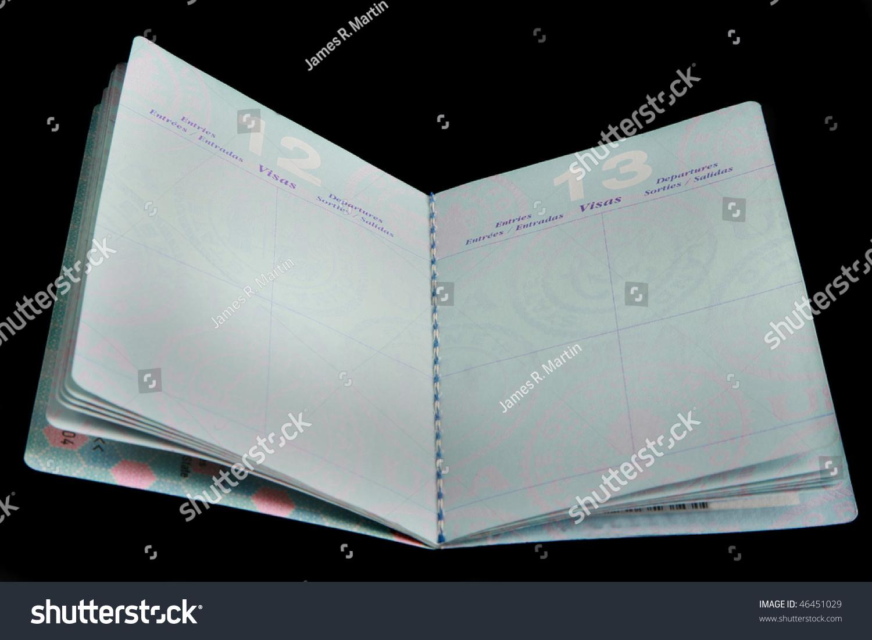 Open Passport Clipart