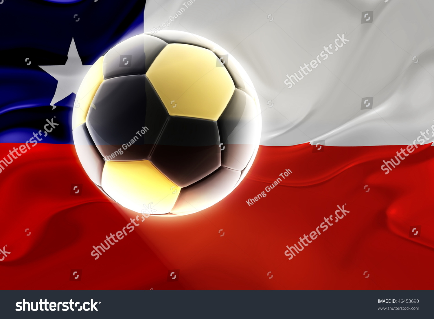 Flag chile national symbol illustration clipart stock illustration flag of chile national symbol illustration clipart wavy fabric sports soccer football biocorpaavc Images