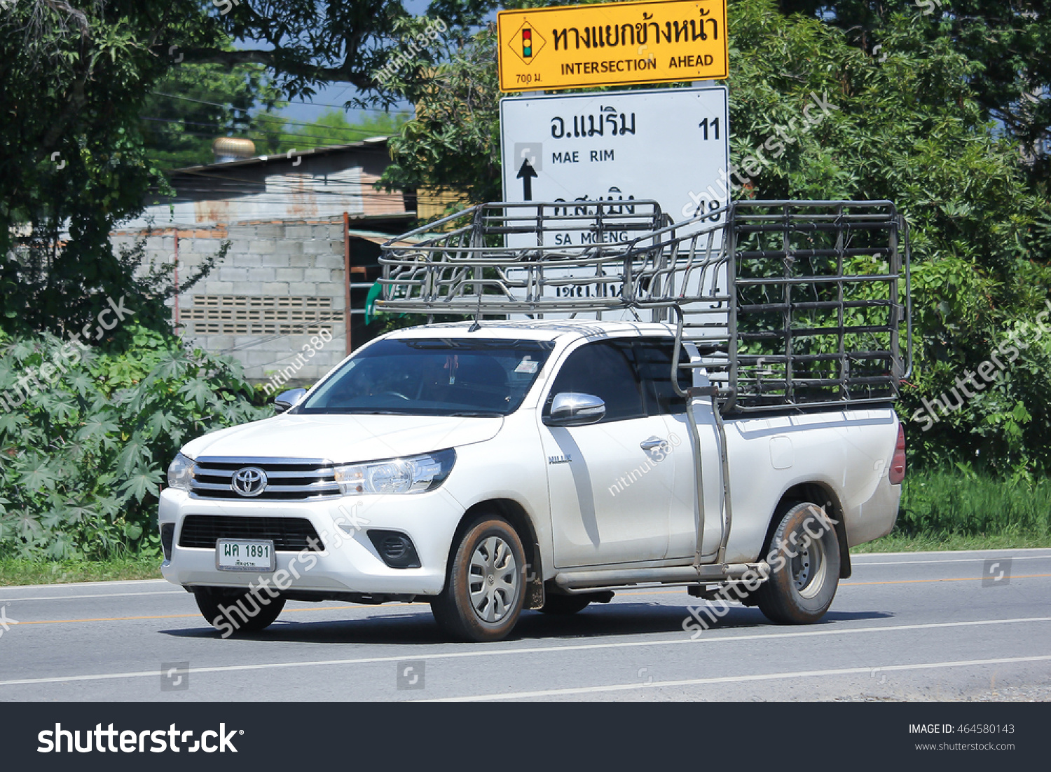 Chiangmai thailand july 27 2016 private pick up car toyota new hilux