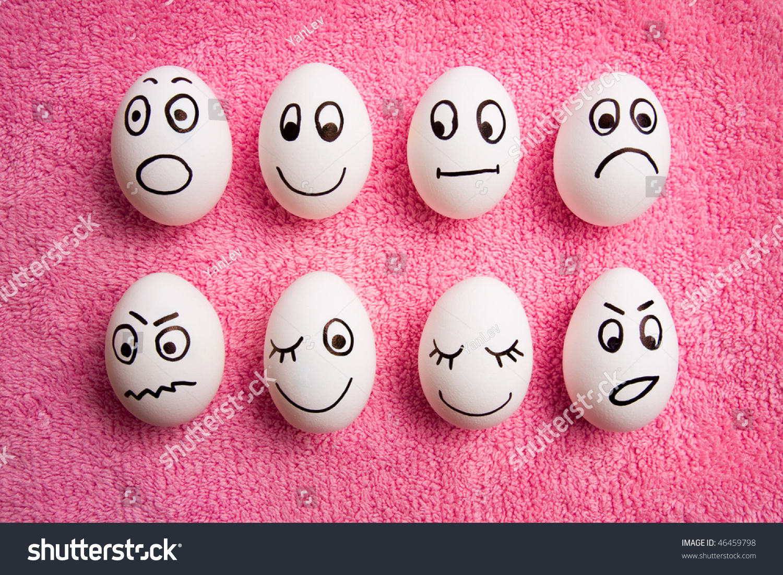 funny eggs emotion mood - photo #13